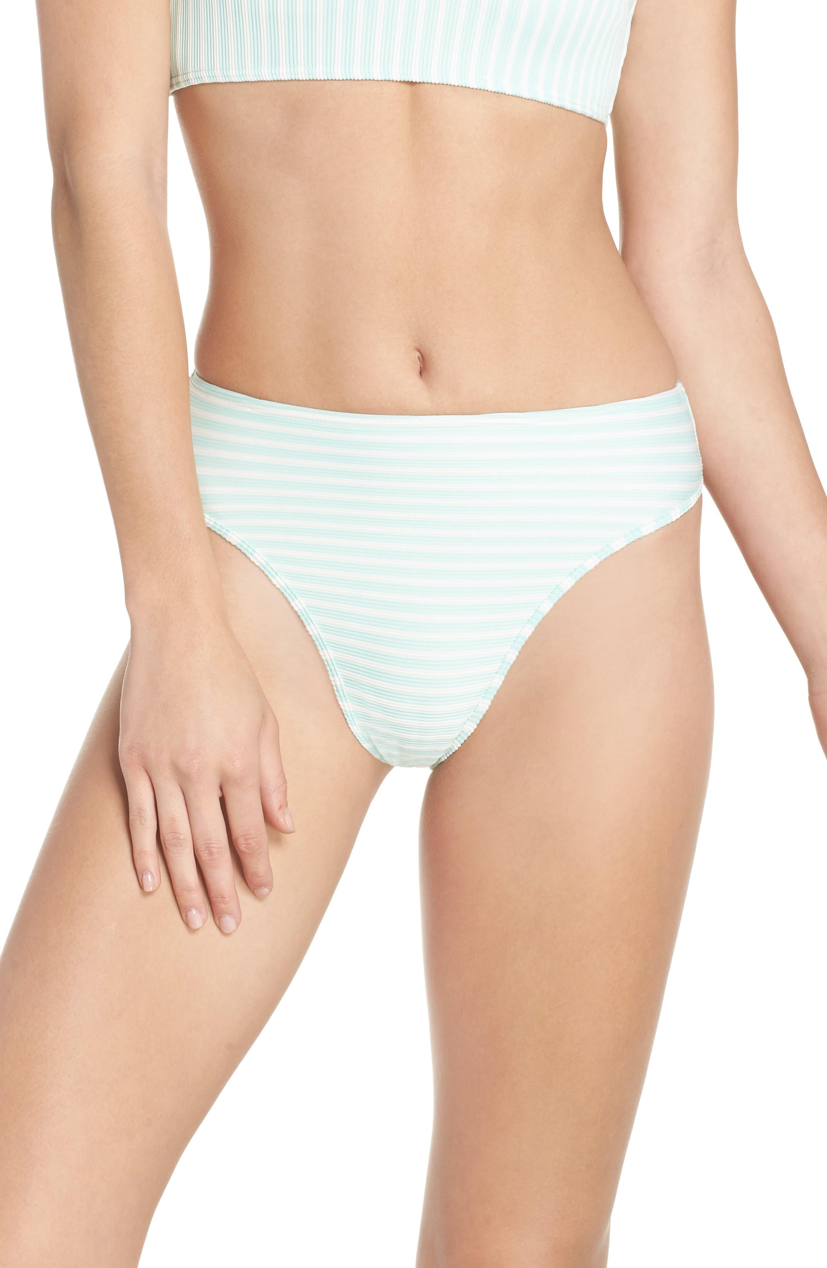 Pierre High Waist Bikini Bottoms,                         Main,                         color, Spearmint