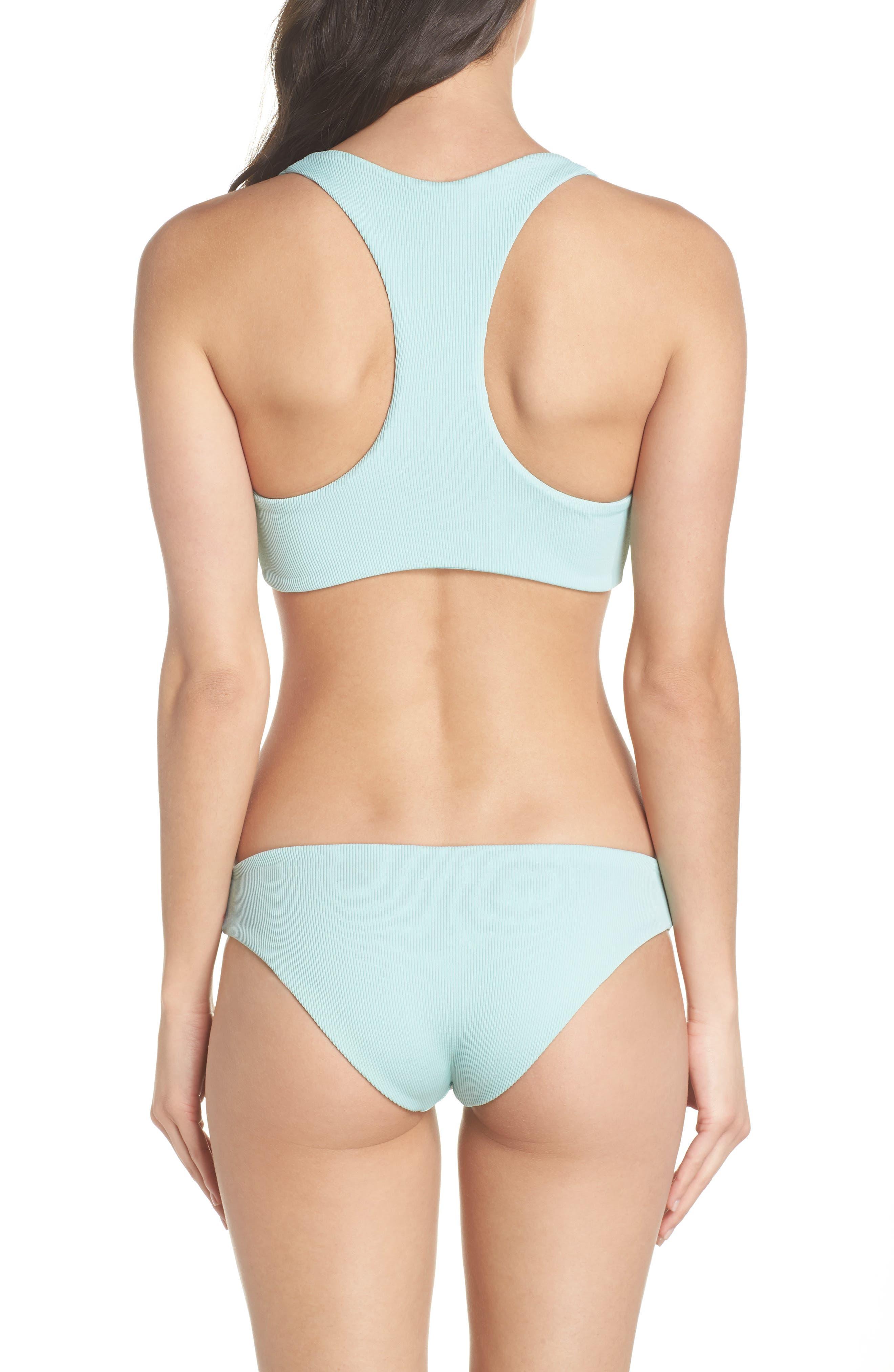Tara Ribbed Bikini Top,                             Alternate thumbnail 6, color,                             Light Turquoise