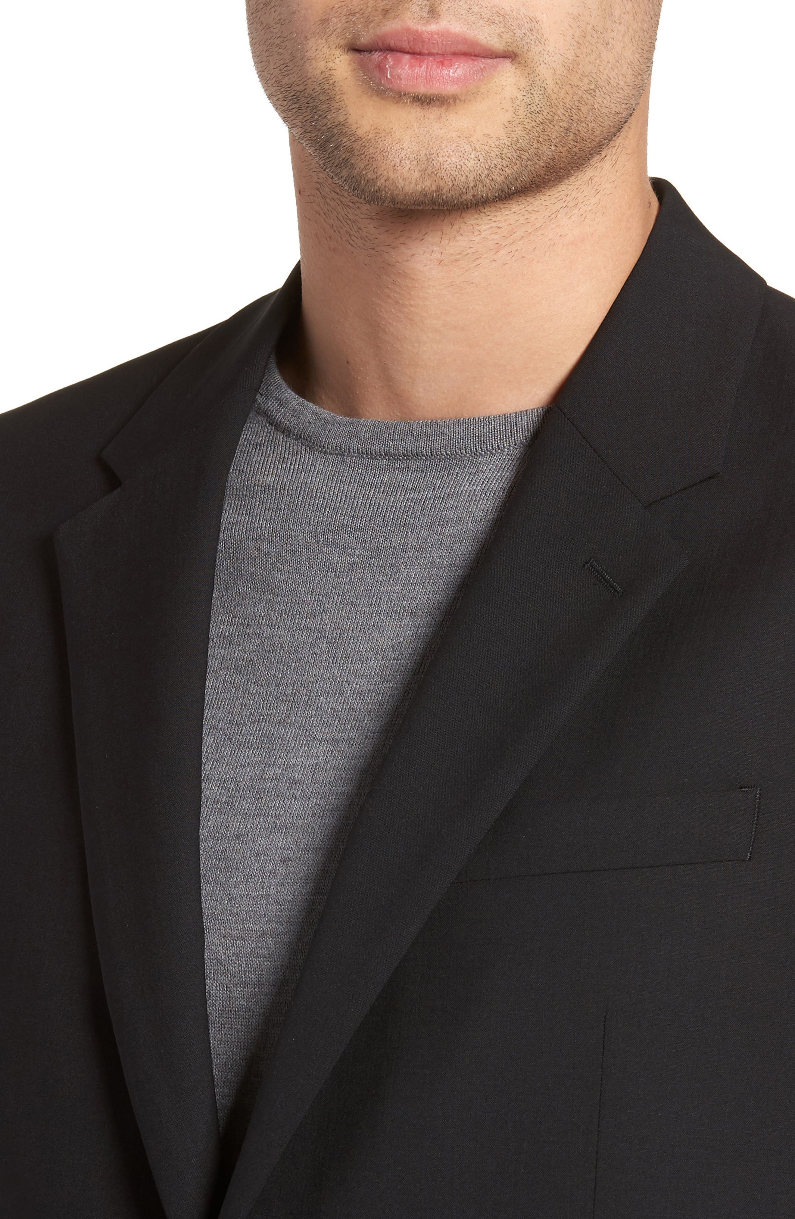 Chambers Slim Fit Stretch Wool Blazer,                             Alternate thumbnail 4, color,                             Black