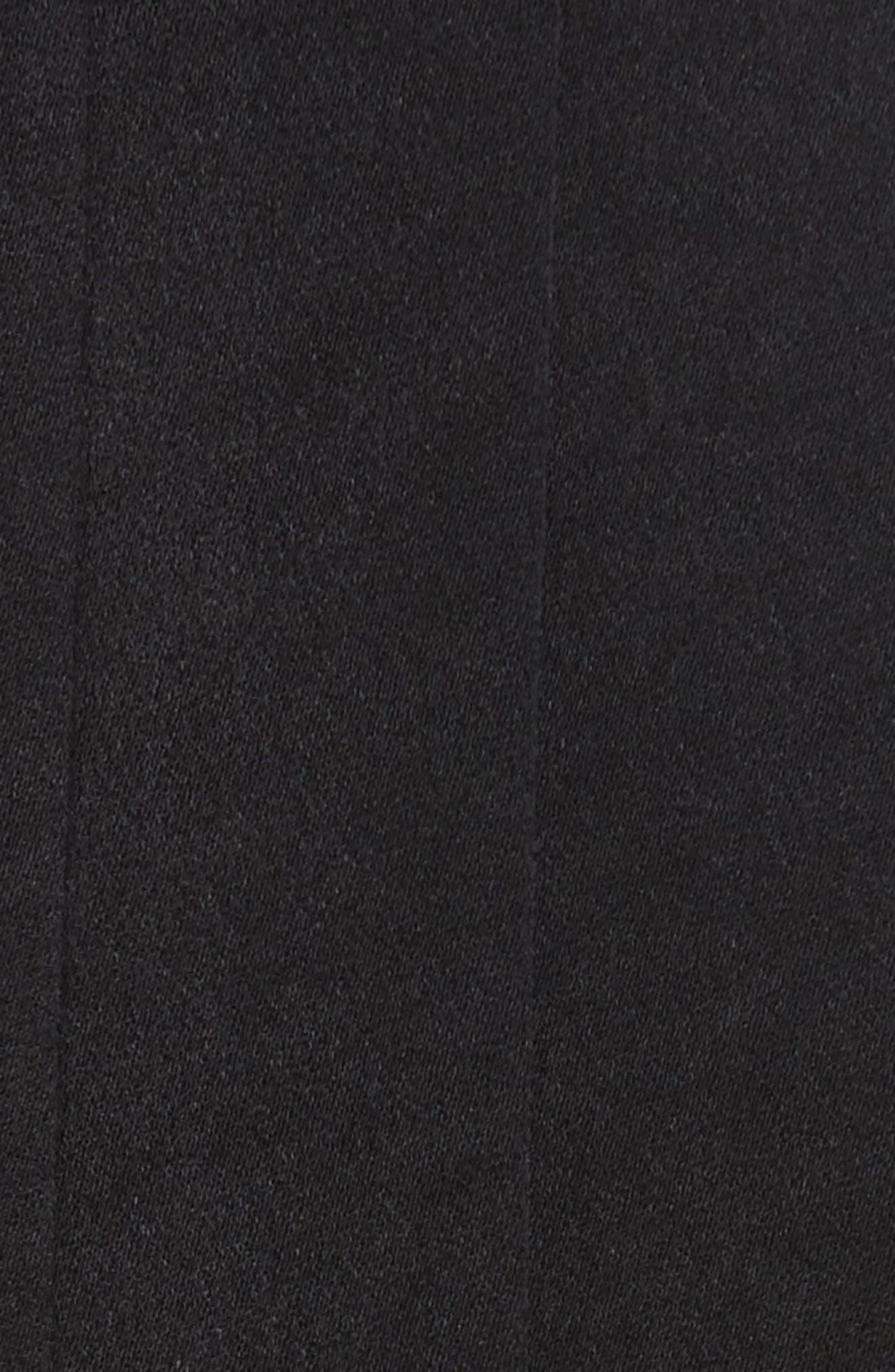 Star Sign Fringe Crop Top,                             Alternate thumbnail 5, color,                             Black W Navy
