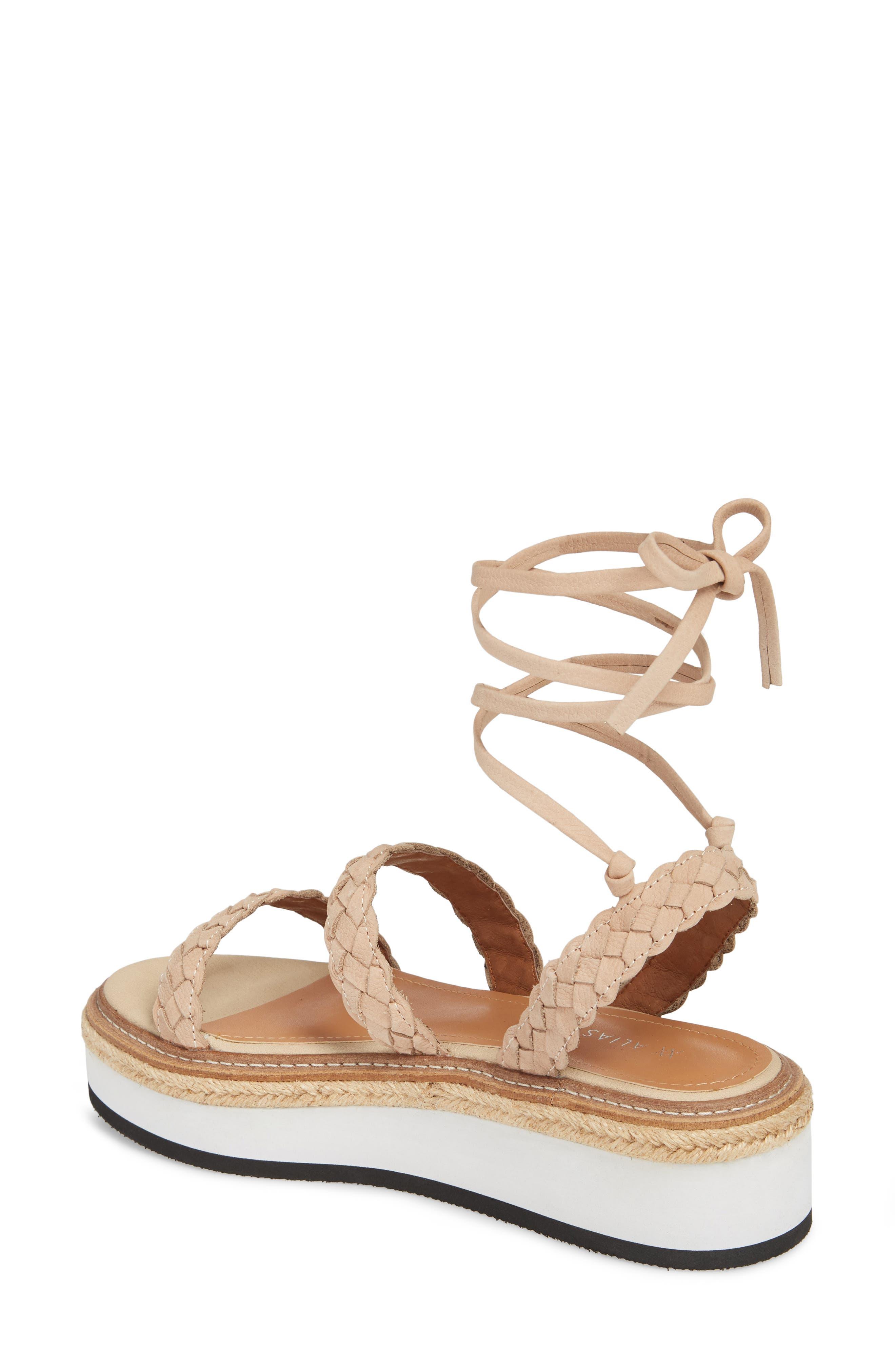 Nieve Braided Platform Sandal,                             Alternate thumbnail 2, color,                             Natural Leather
