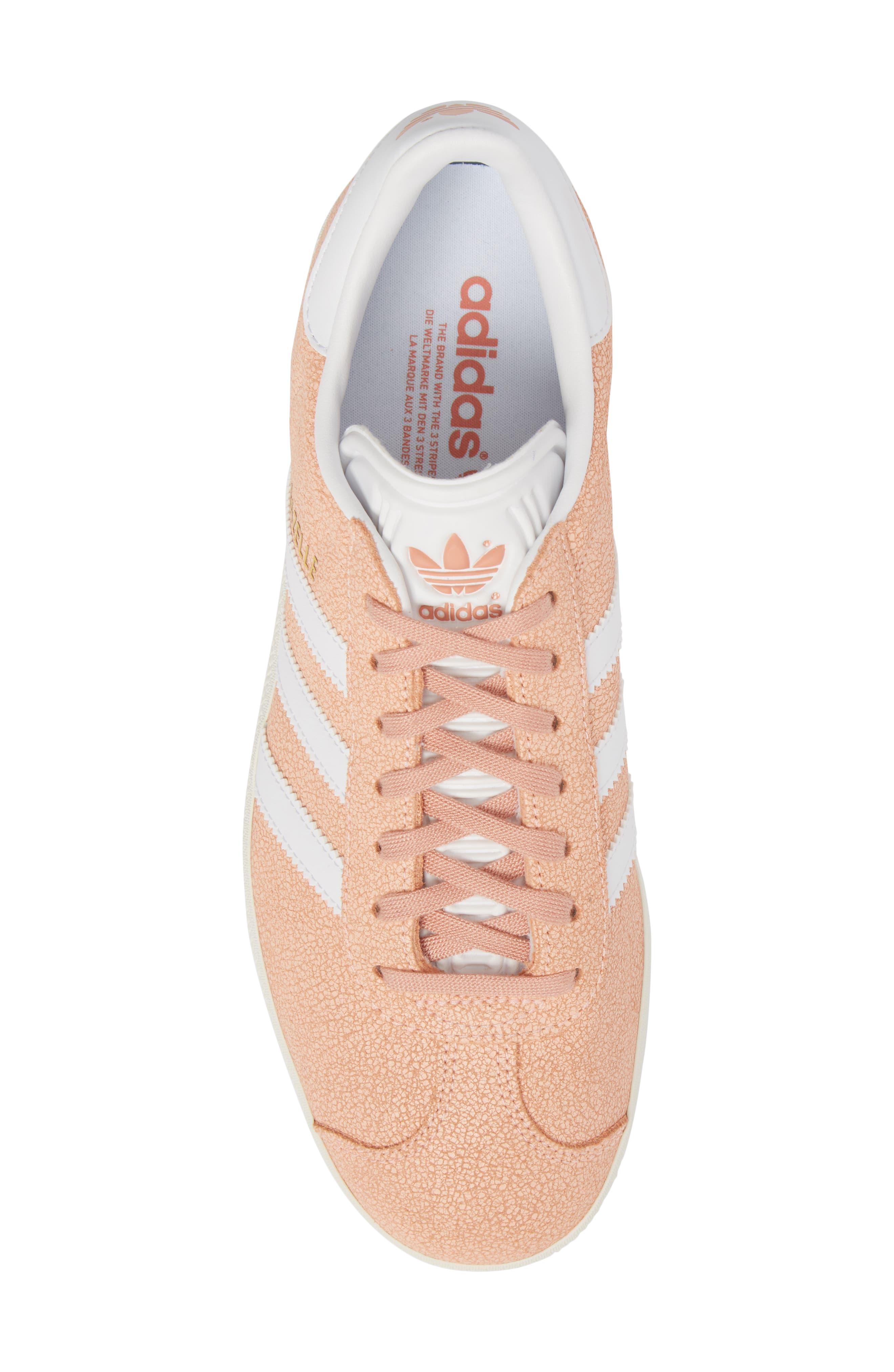 Gazelle Sneaker,                             Alternate thumbnail 5, color,                             Clear Orange/ White/ Off White