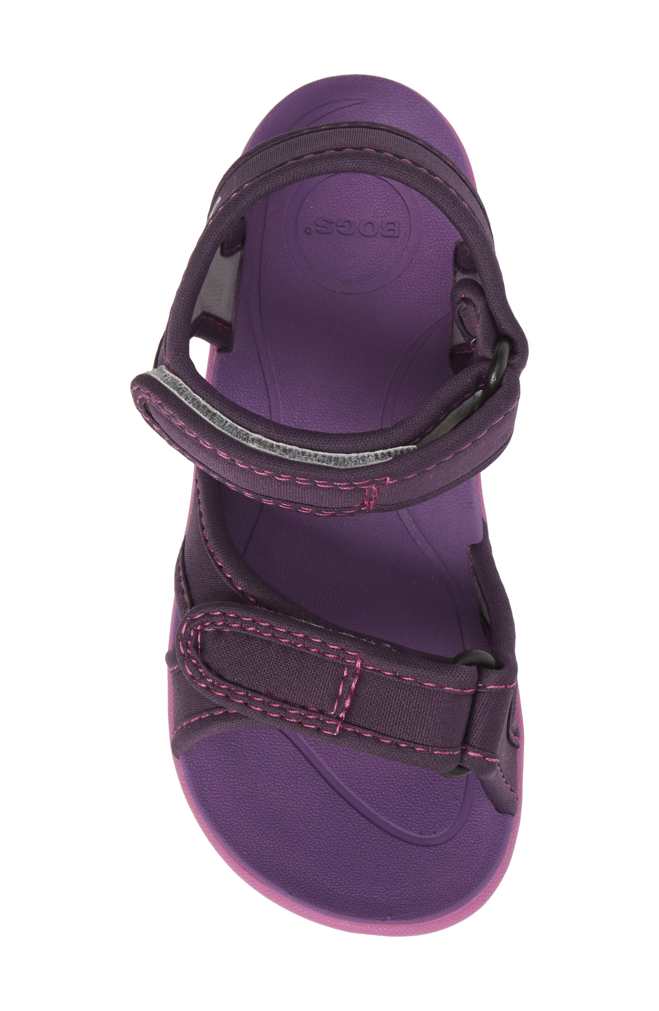Whitefish Waterproof Sandal,                             Alternate thumbnail 5, color,                             Eggplant Multi