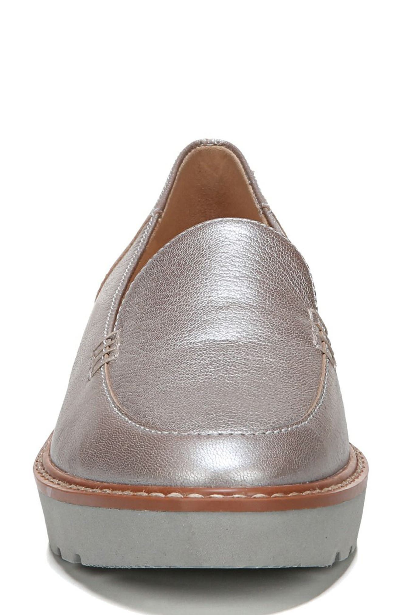 Andie Loafer,                             Alternate thumbnail 4, color,                             Silver Leather