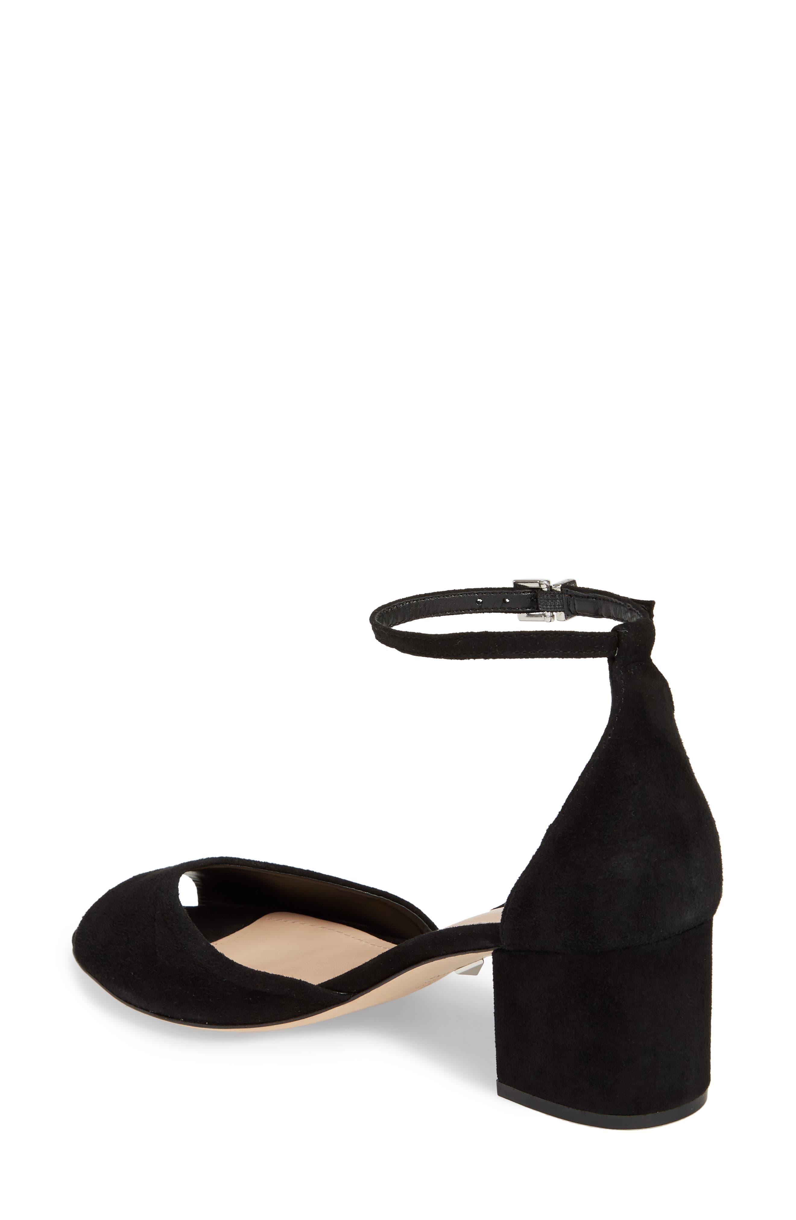 Roama Block Heel Sandal,                             Alternate thumbnail 2, color,                             Black Suede