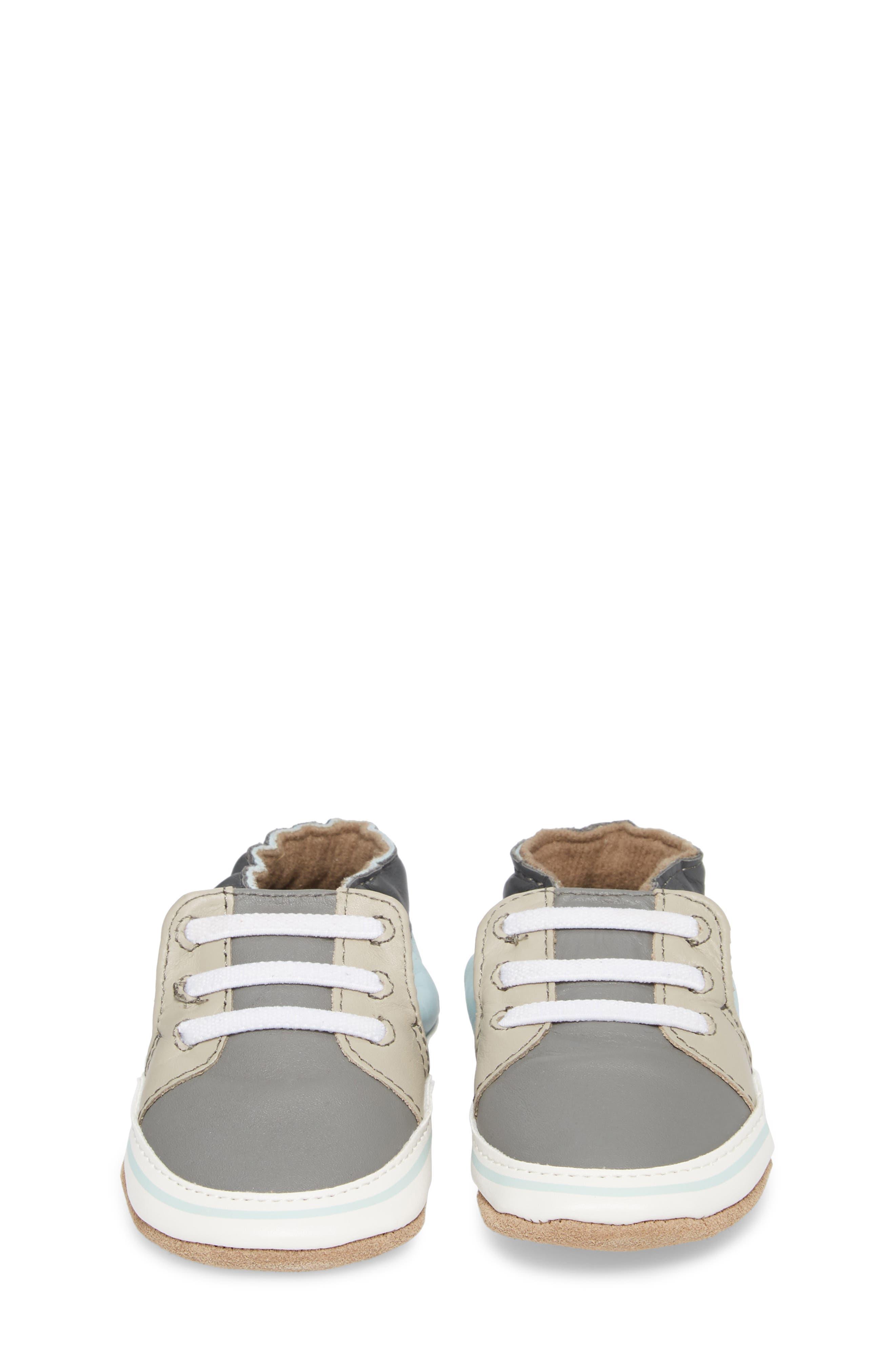 Trendy Chris Crib Sneaker,                             Alternate thumbnail 5, color,                             Grey
