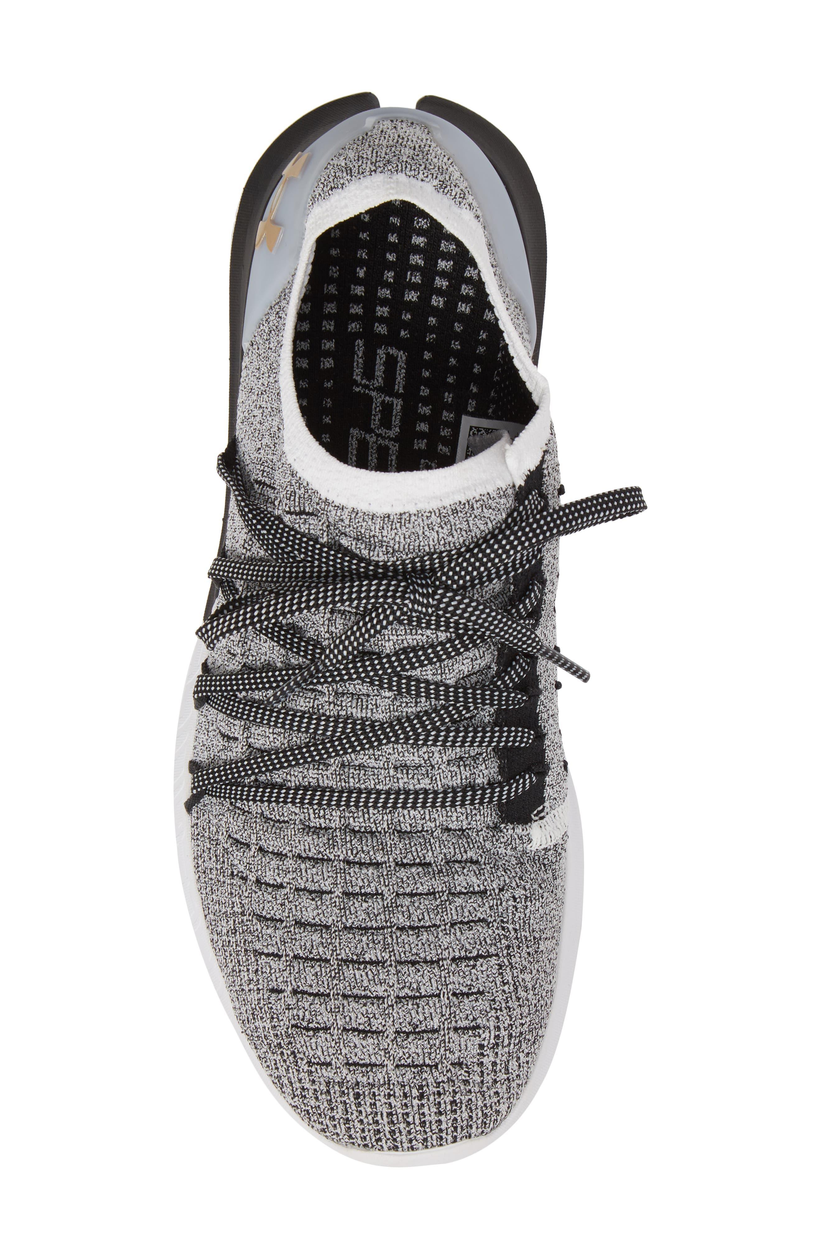 Speedform<sup>®</sup> Slingshot 2 Sneaker,                             Alternate thumbnail 5, color,                             White / Black / Metallic Gold