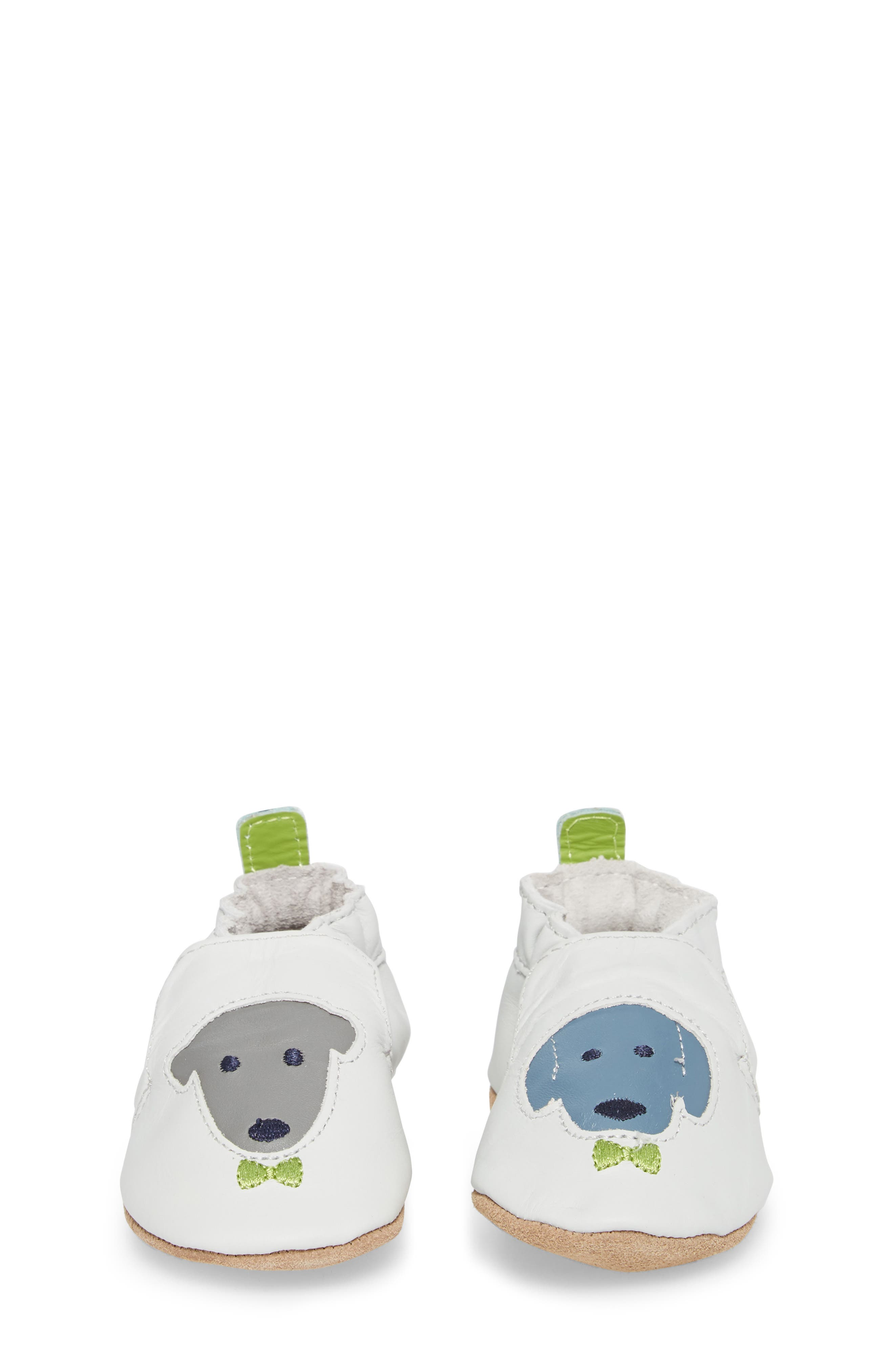 Dog Buddies Moccasin Crib Shoe,                             Alternate thumbnail 5, color,                             Light Grey