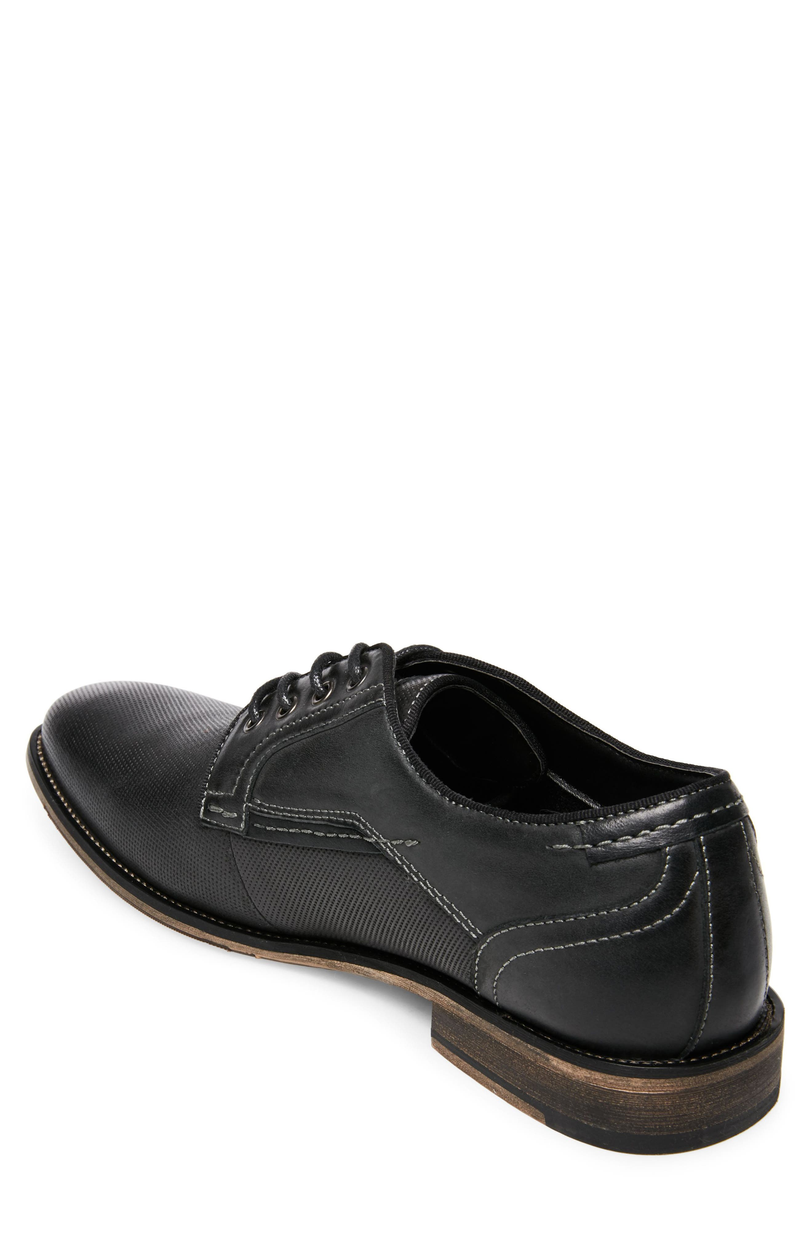 Jaysun Embossed Plain Toe Derby,                             Alternate thumbnail 2, color,                             Dark Grey Leather
