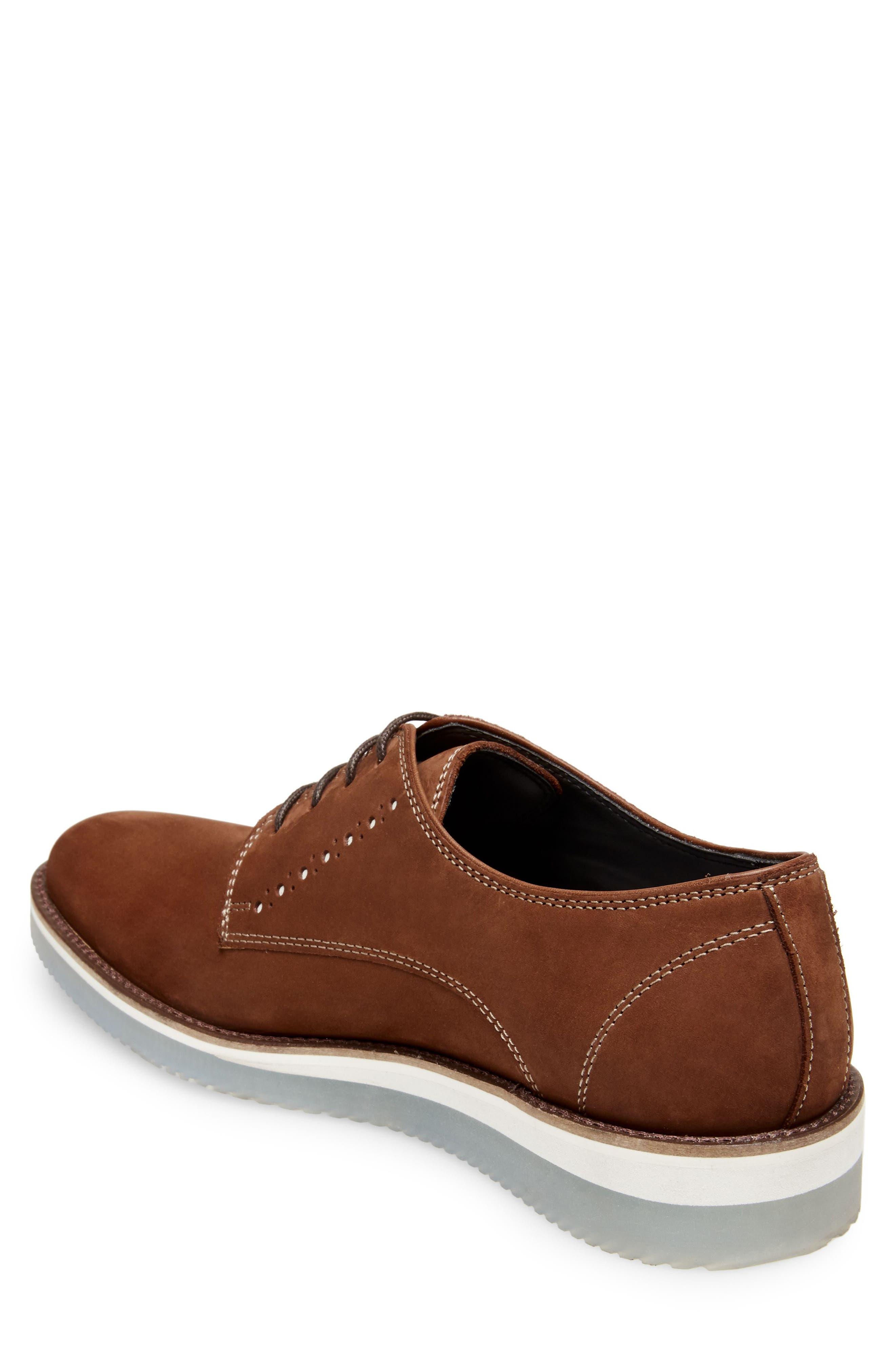 Inquest Plain Toe Derby,                             Alternate thumbnail 2, color,                             Cognac Nubuck