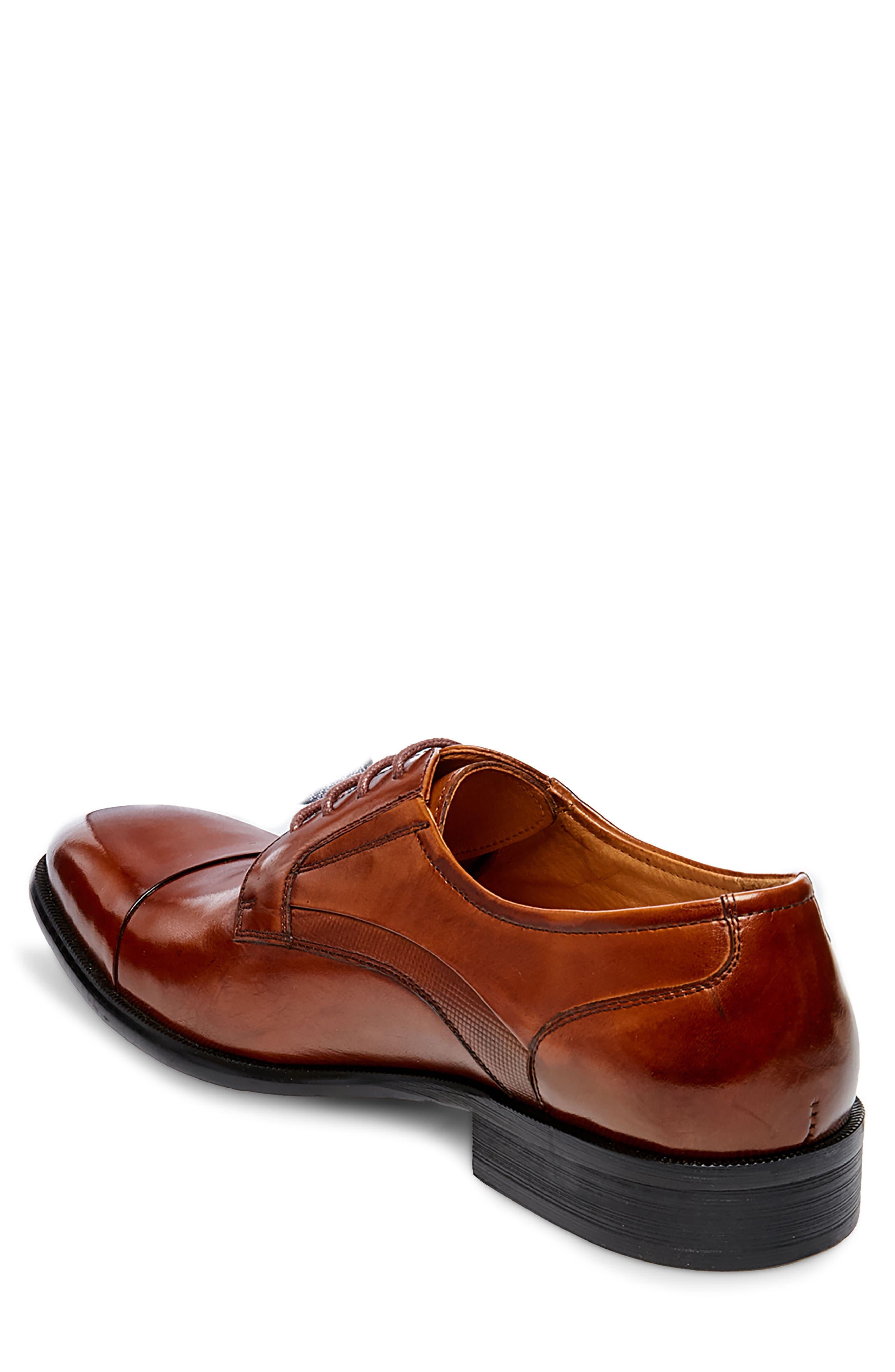Carlo Cap Toe Derby,                             Alternate thumbnail 2, color,                             Tan Leather