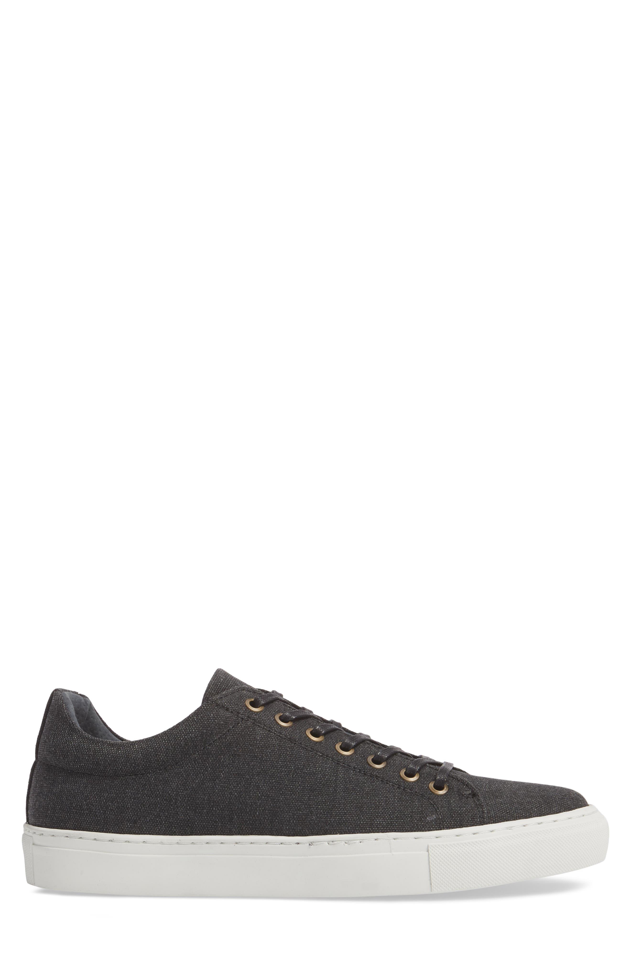 Mark Low Top Sneaker,                             Alternate thumbnail 3, color,                             Black Canvas