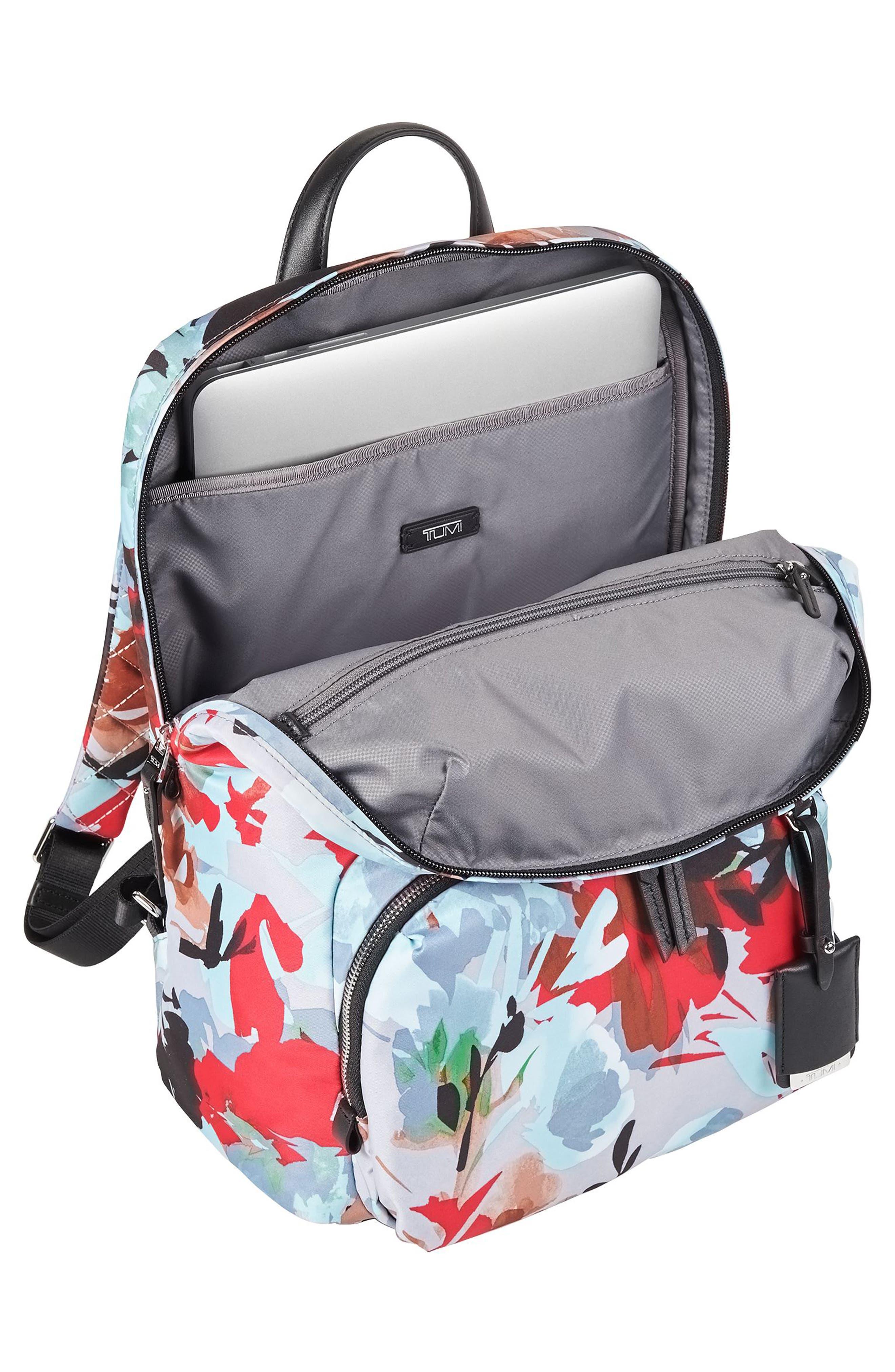 Voyageur Halle Nylon Backpack,                             Alternate thumbnail 4, color,                             Pacific Floral