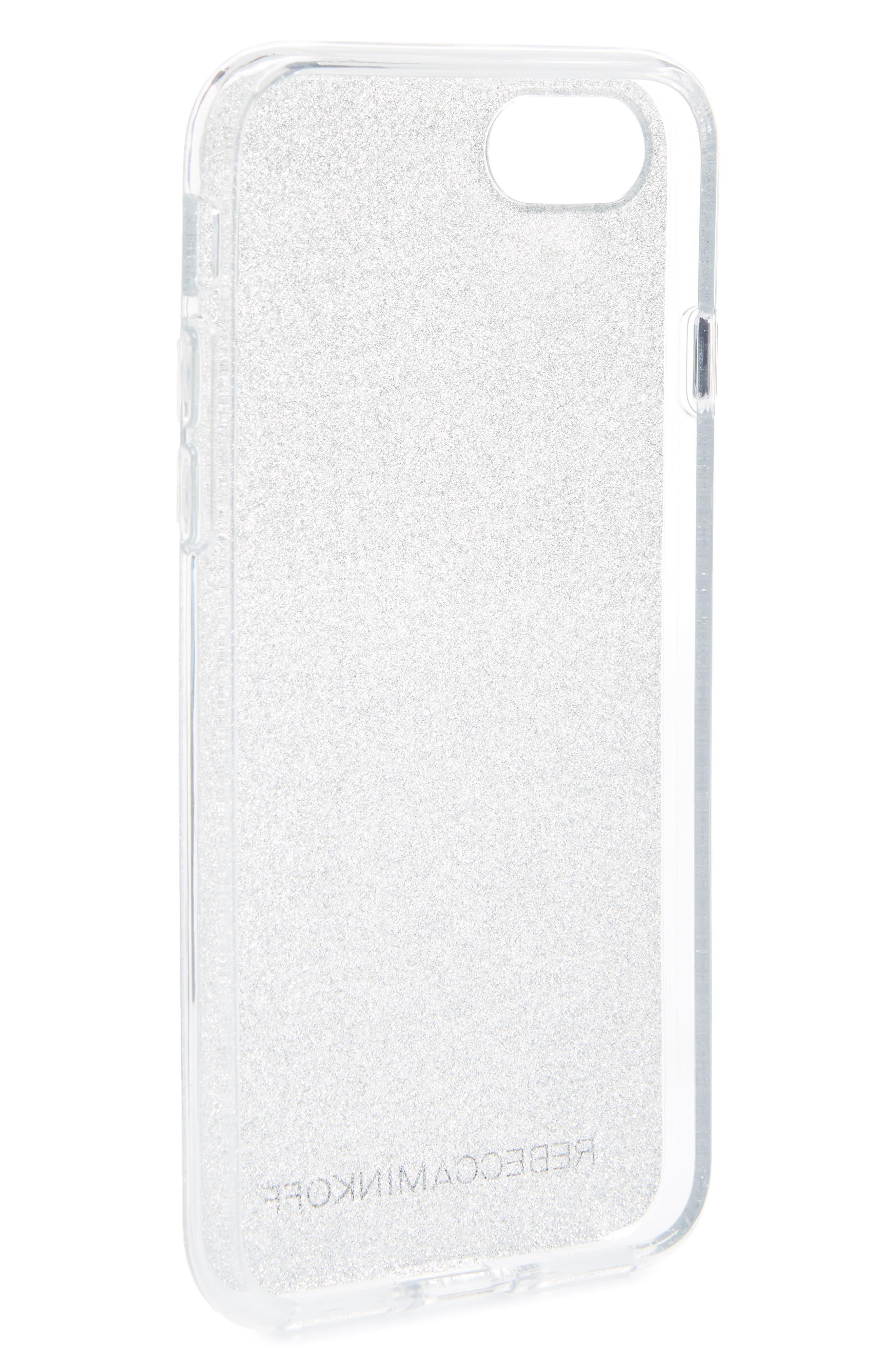 Be More Transparent iPhone 7/8 & 7/8 Plus Case,                             Alternate thumbnail 2, color,                             Silver Glitter