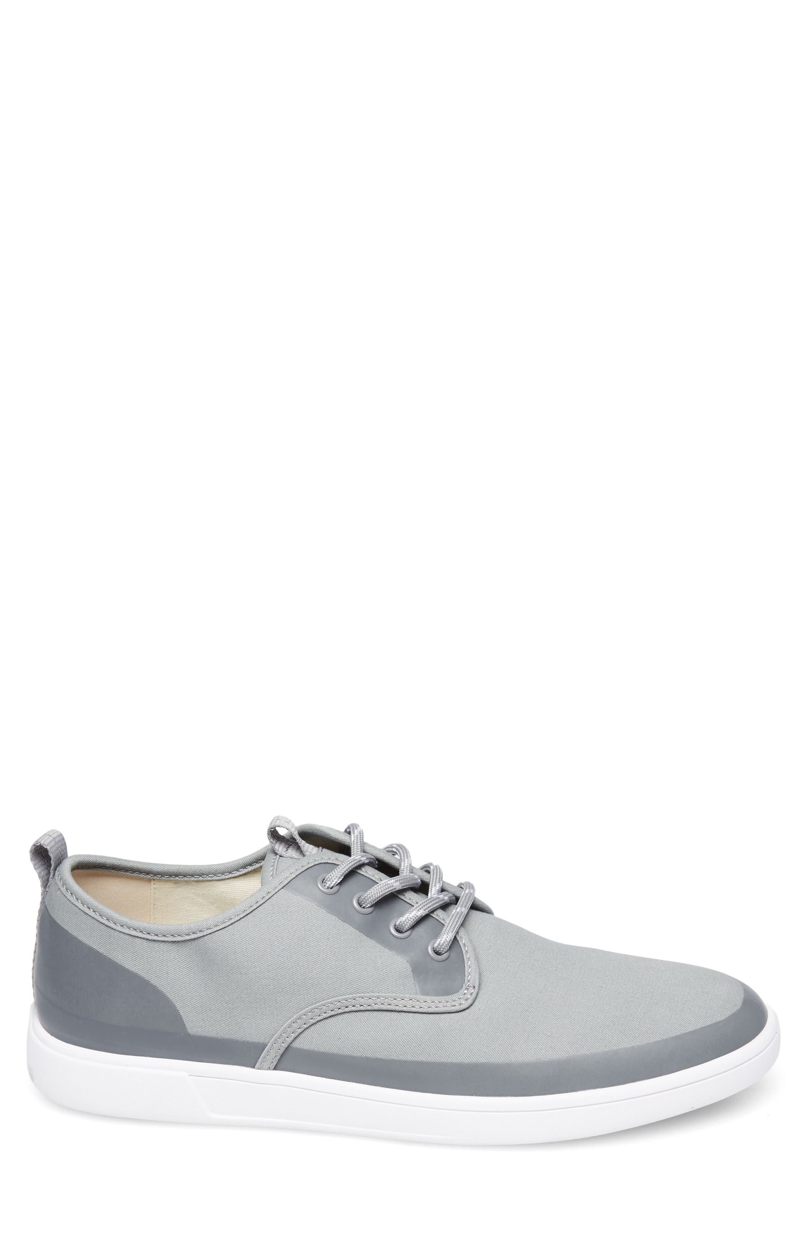 Fayette Low Top Sneaker,                             Alternate thumbnail 3, color,                             Grey Fabric