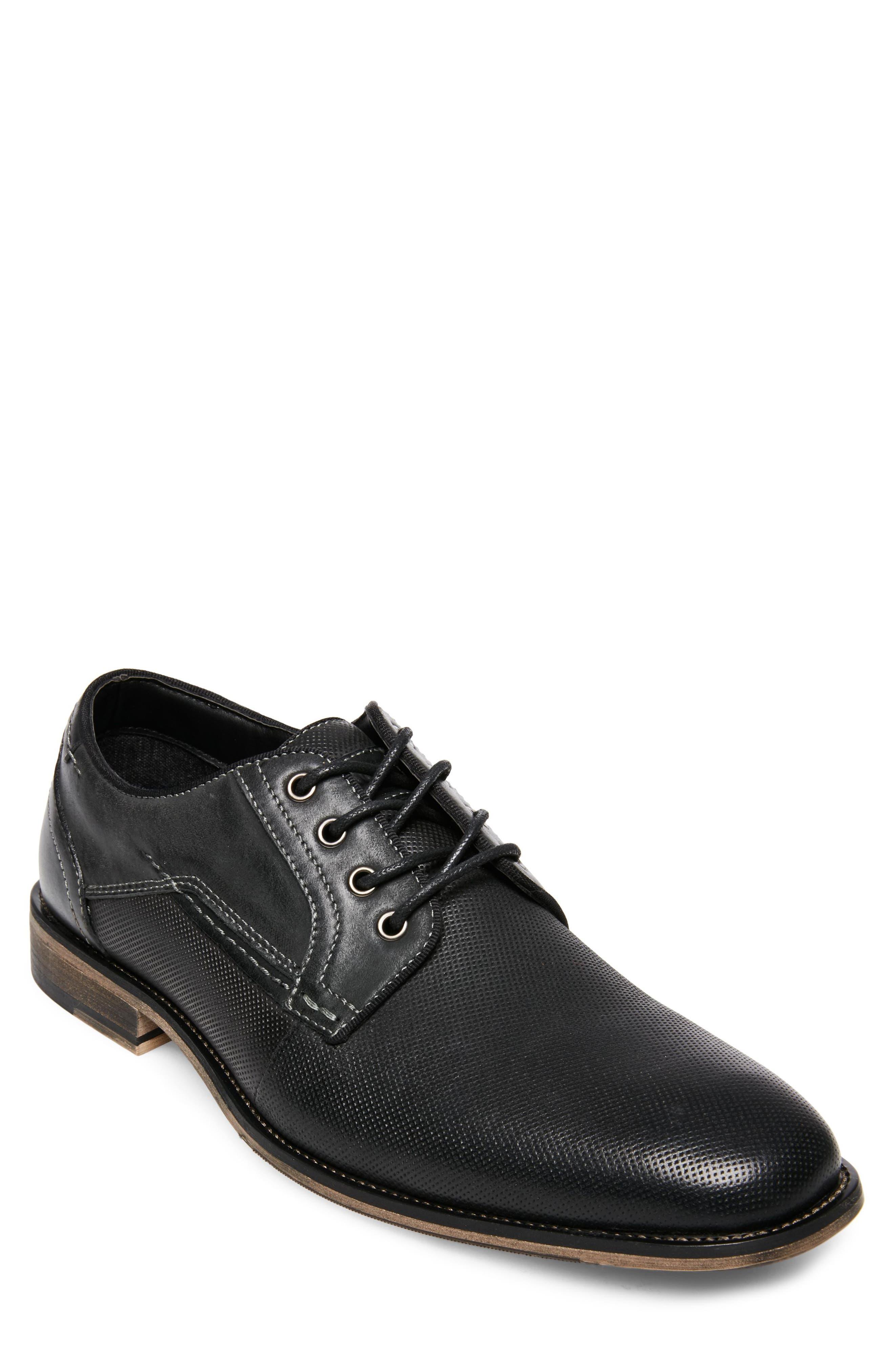 Jaysun Embossed Plain Toe Derby,                             Main thumbnail 1, color,                             Dark Grey Leather