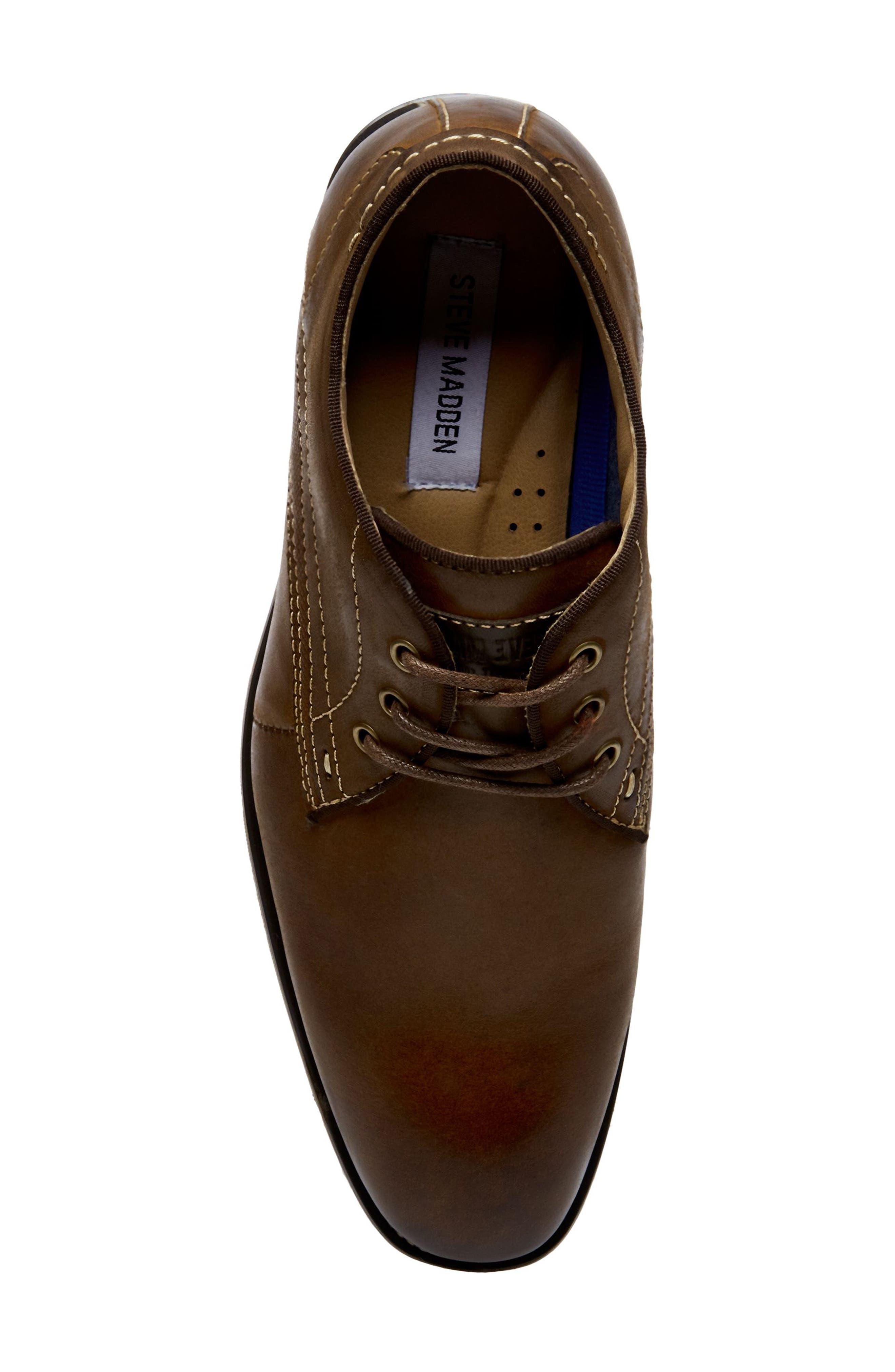 Jetset Plain Toe Derby,                             Alternate thumbnail 5, color,                             Dark Tan Leather