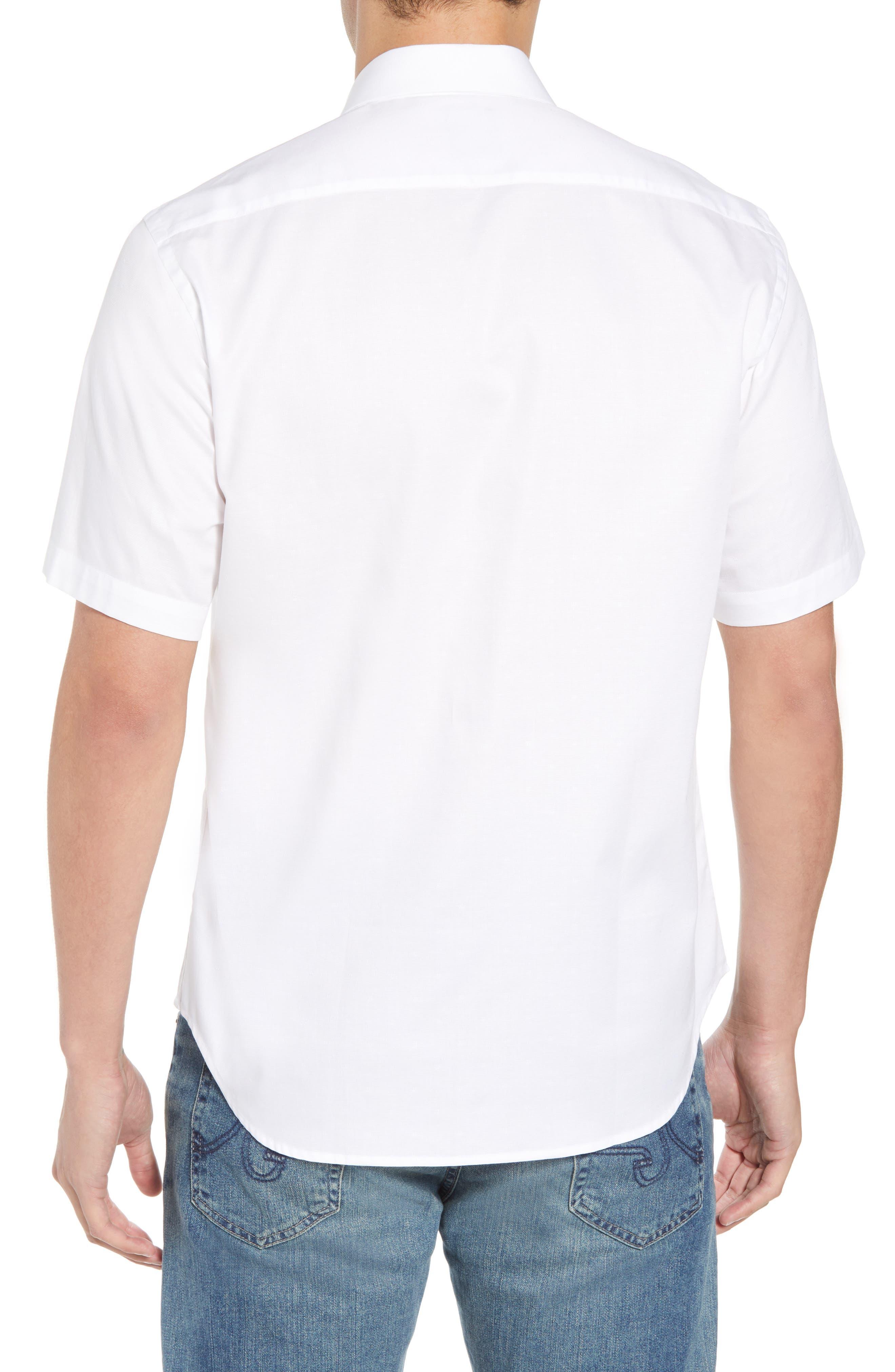 Abbott Regular Fit Sport Shirt,                             Alternate thumbnail 3, color,                             White