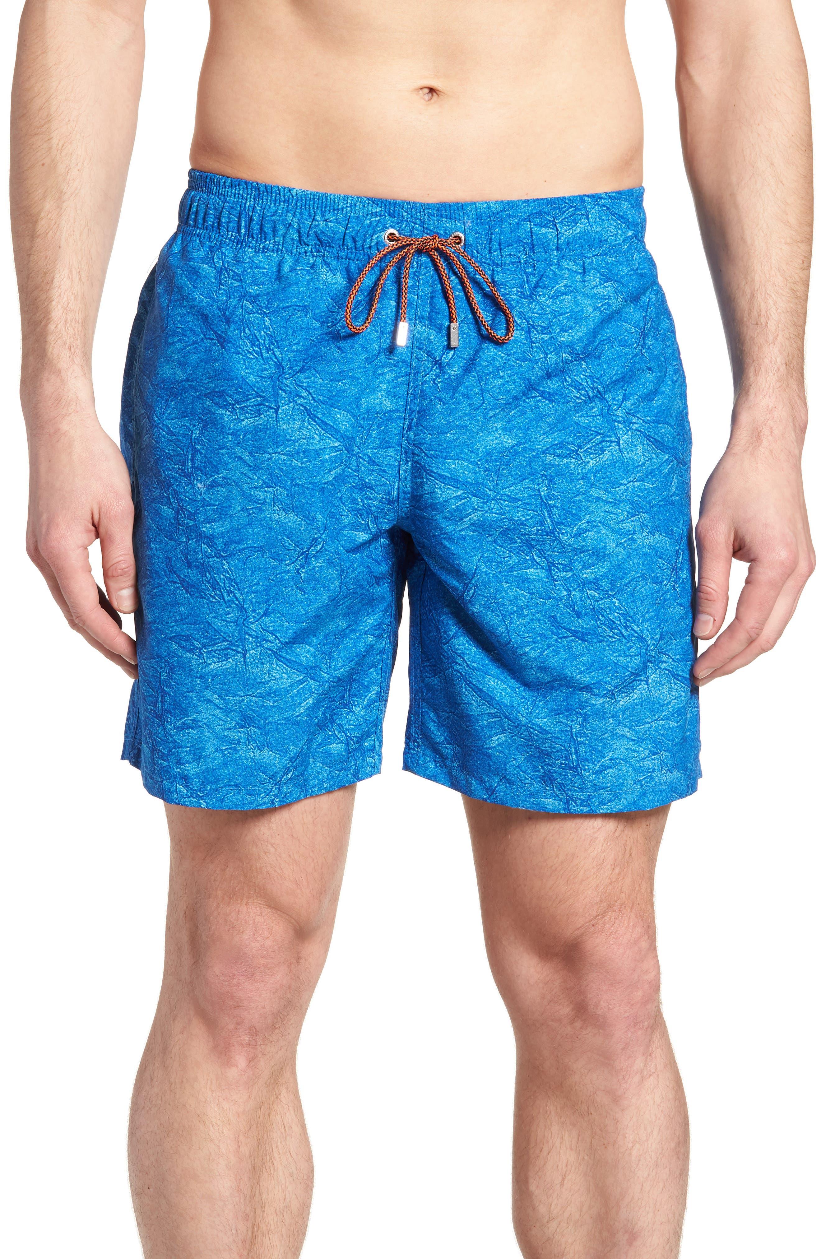 Marble Mood Swim Trunks,                         Main,                         color, Ocean