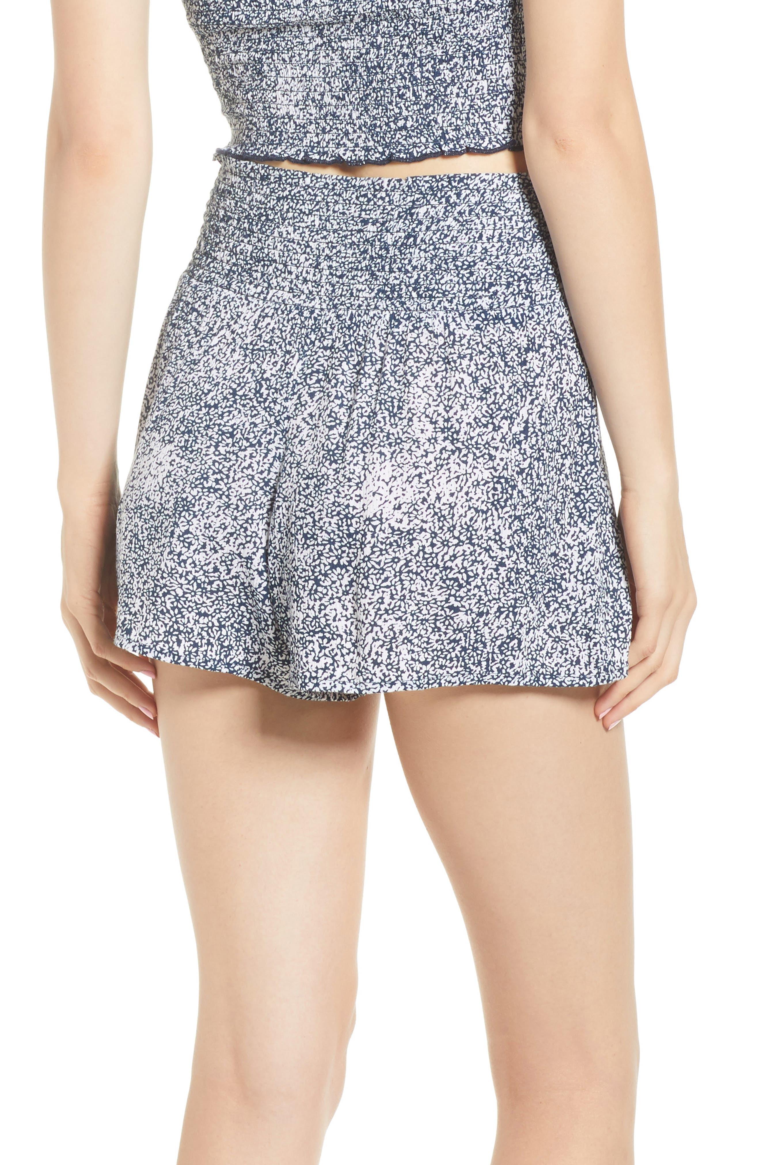 She's So Daisy Smock Waist Shorts,                             Alternate thumbnail 3, color,                             Navy