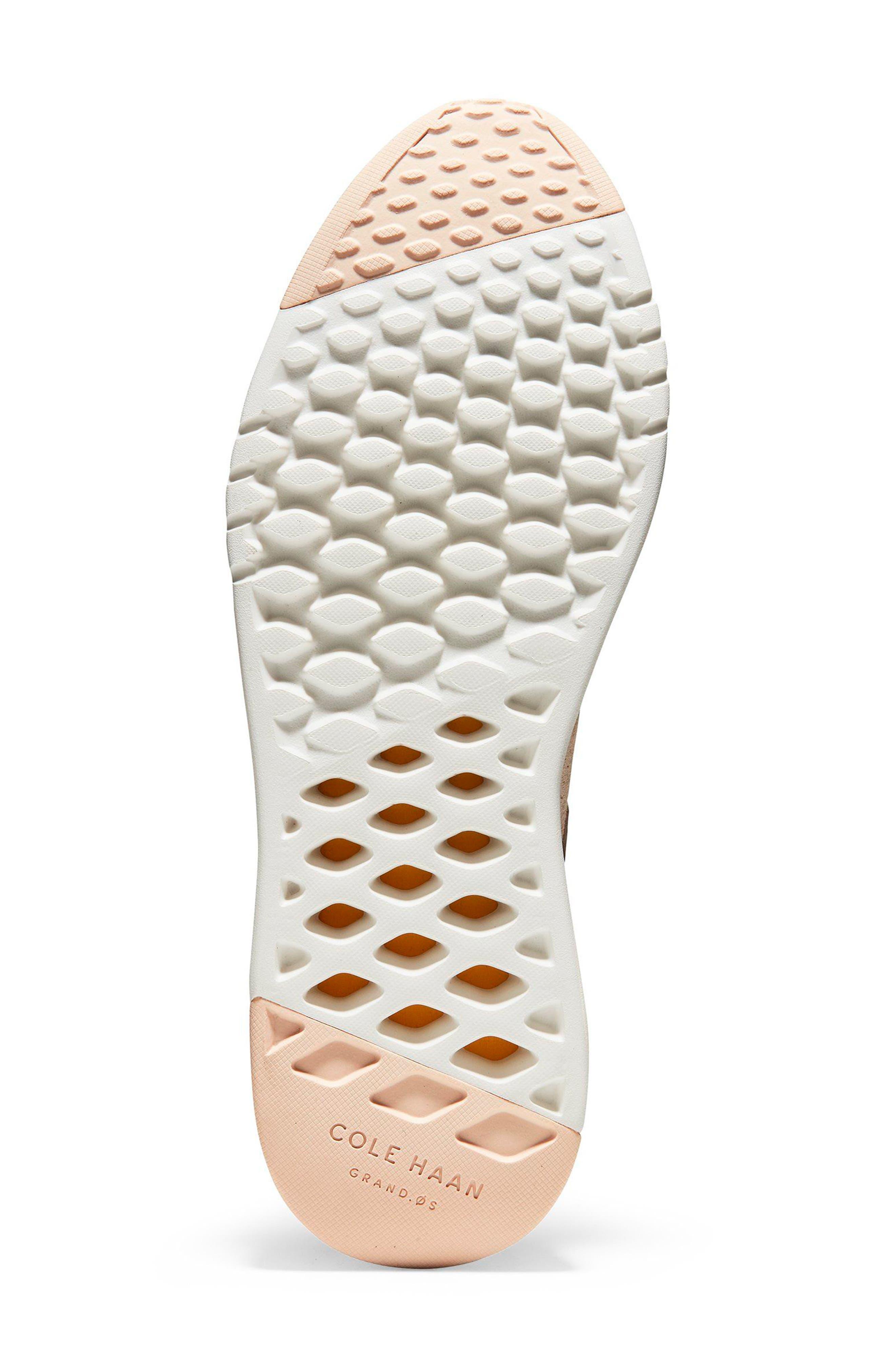 GrandPro Wedge Sneaker,                             Alternate thumbnail 6, color,                             Peach Blush Suede