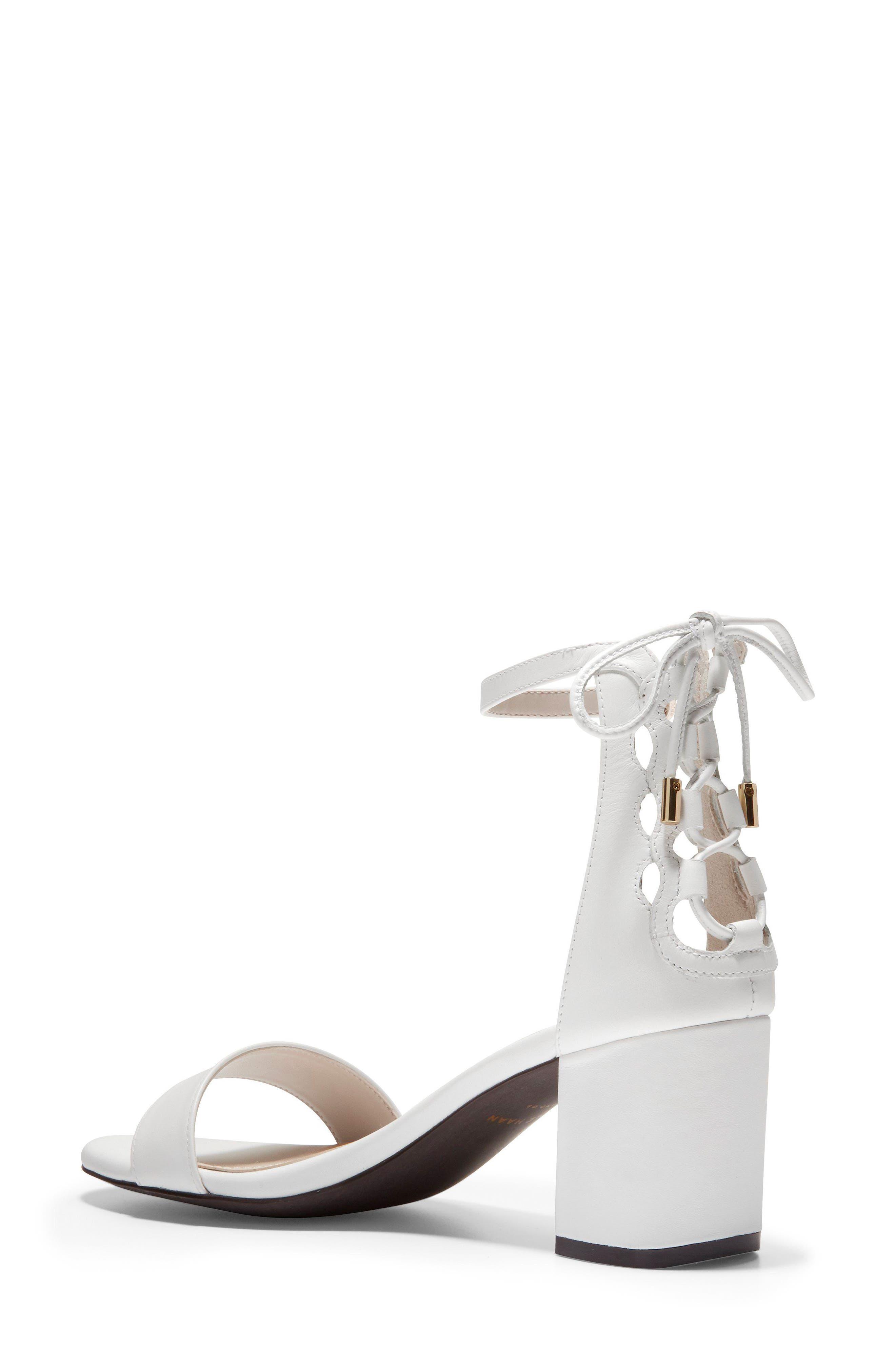 Leah Sandal,                             Alternate thumbnail 2, color,                             White Leather