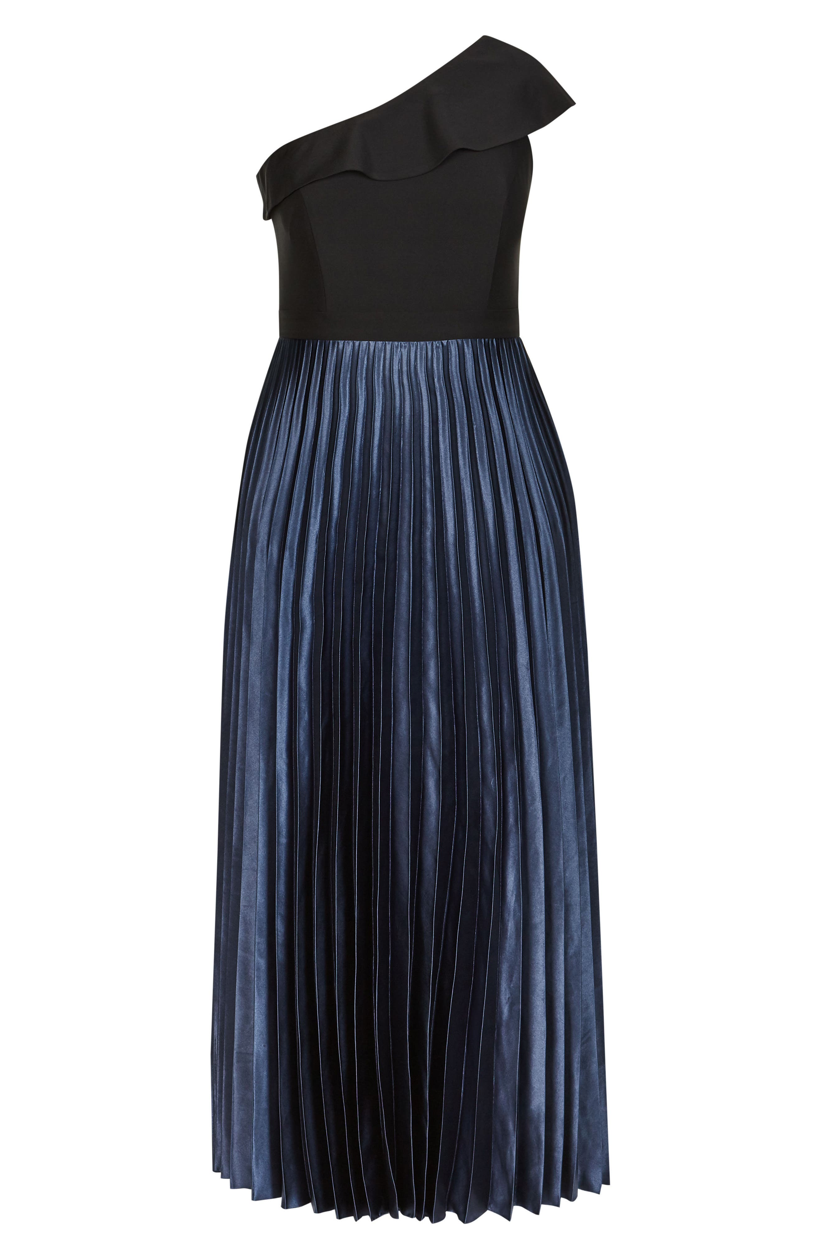 Rosa One Shoulder Pleat Maxi Dress,                             Alternate thumbnail 4, color,                             Smoke