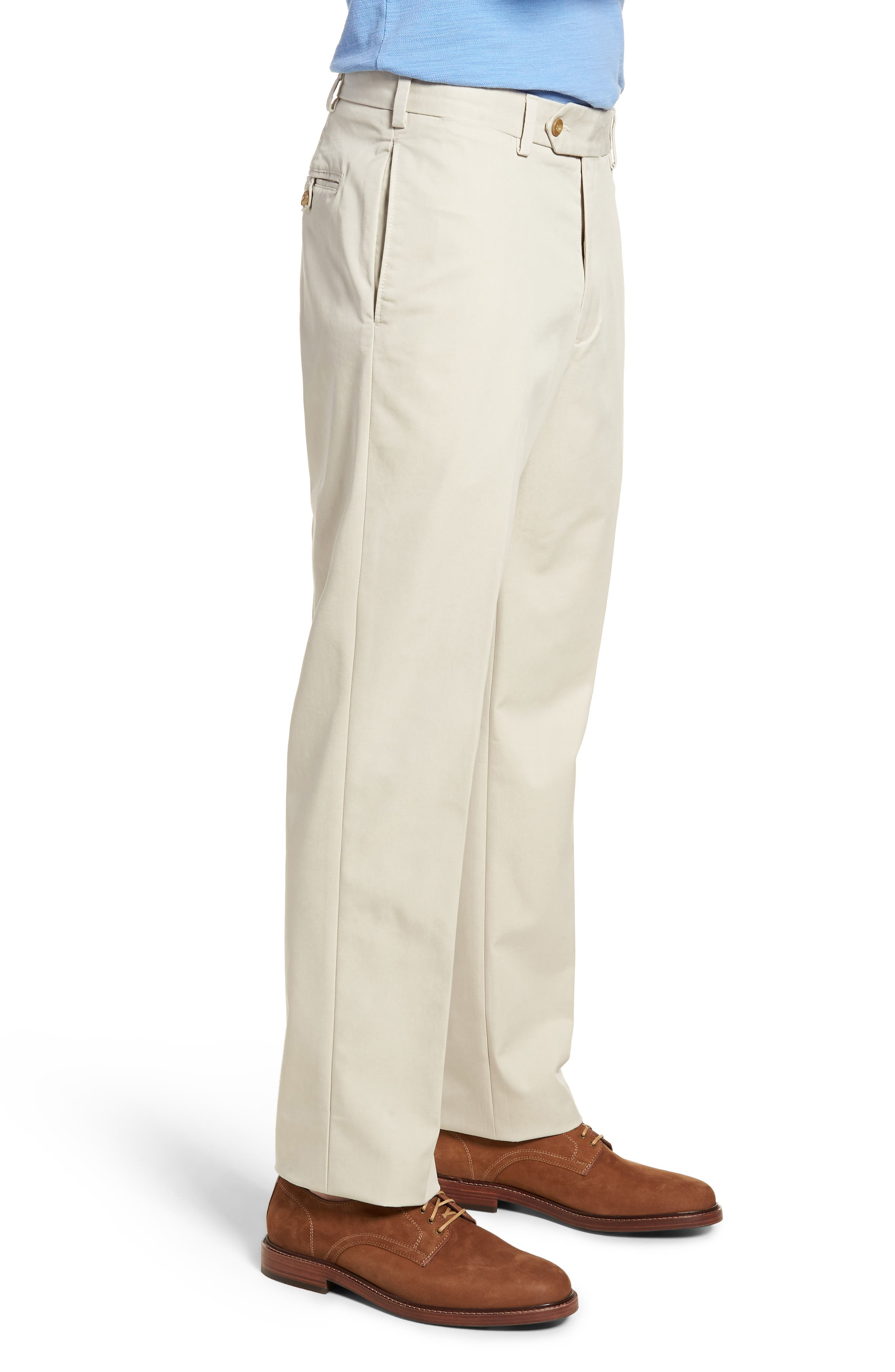 M2 Classic Fit Flat Front Travel Twill Pants,                             Alternate thumbnail 3, color,                             Cement