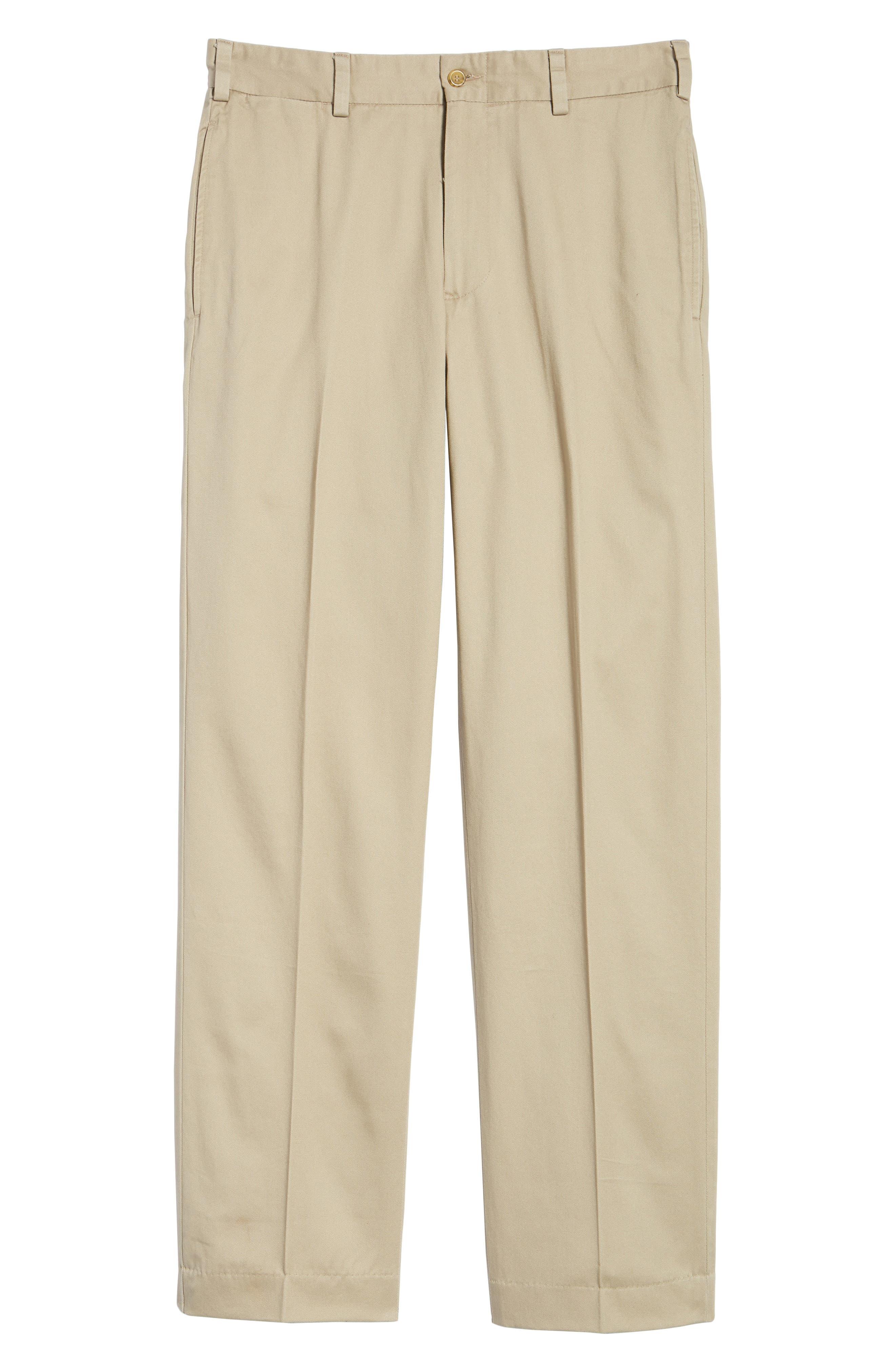 M2 Classic Fit Vintage Twill Flat Front Pants,                             Alternate thumbnail 6, color,                             Khaki