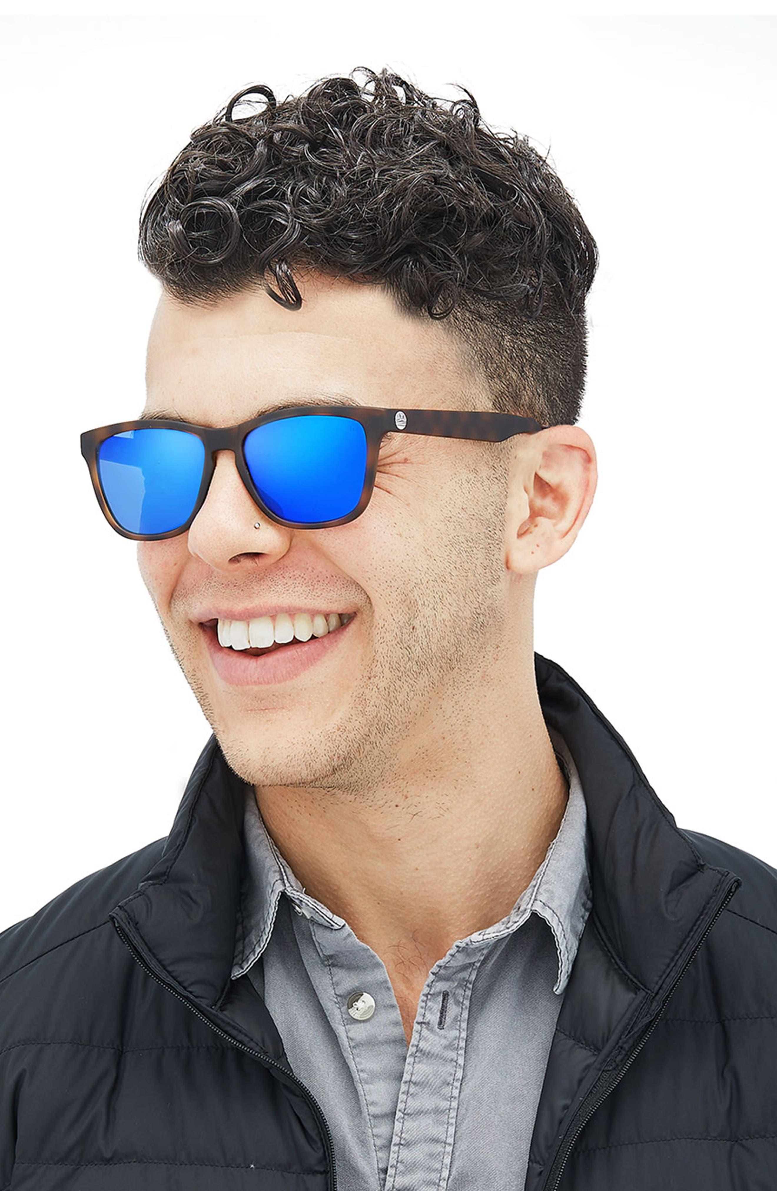 Madrona 53mm Polarized Sunglasses,                             Alternate thumbnail 3, color,                             Tortoise/Blue