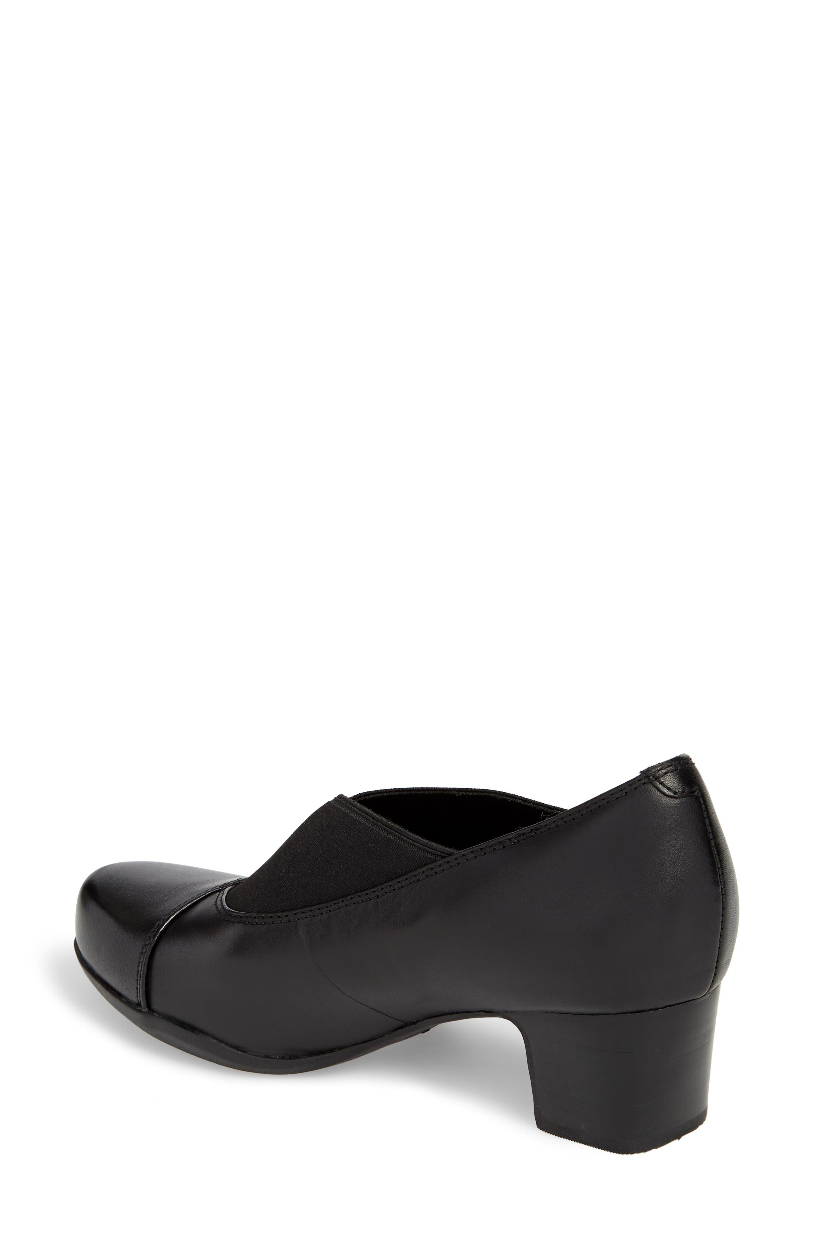 Rosalyn Olivia Pump,                             Alternate thumbnail 2, color,                             Black Leather