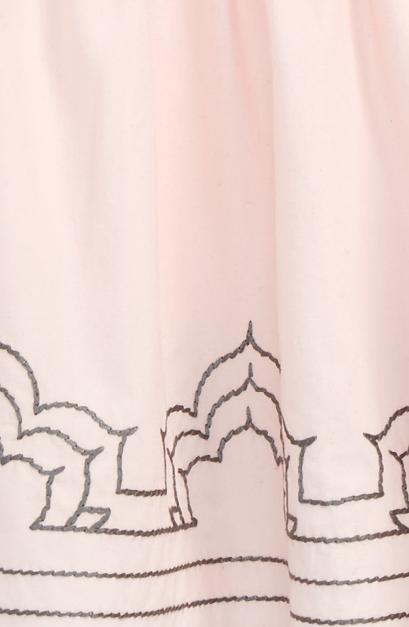 Embroidered Dress,                             Alternate thumbnail 2, color,                             Pink