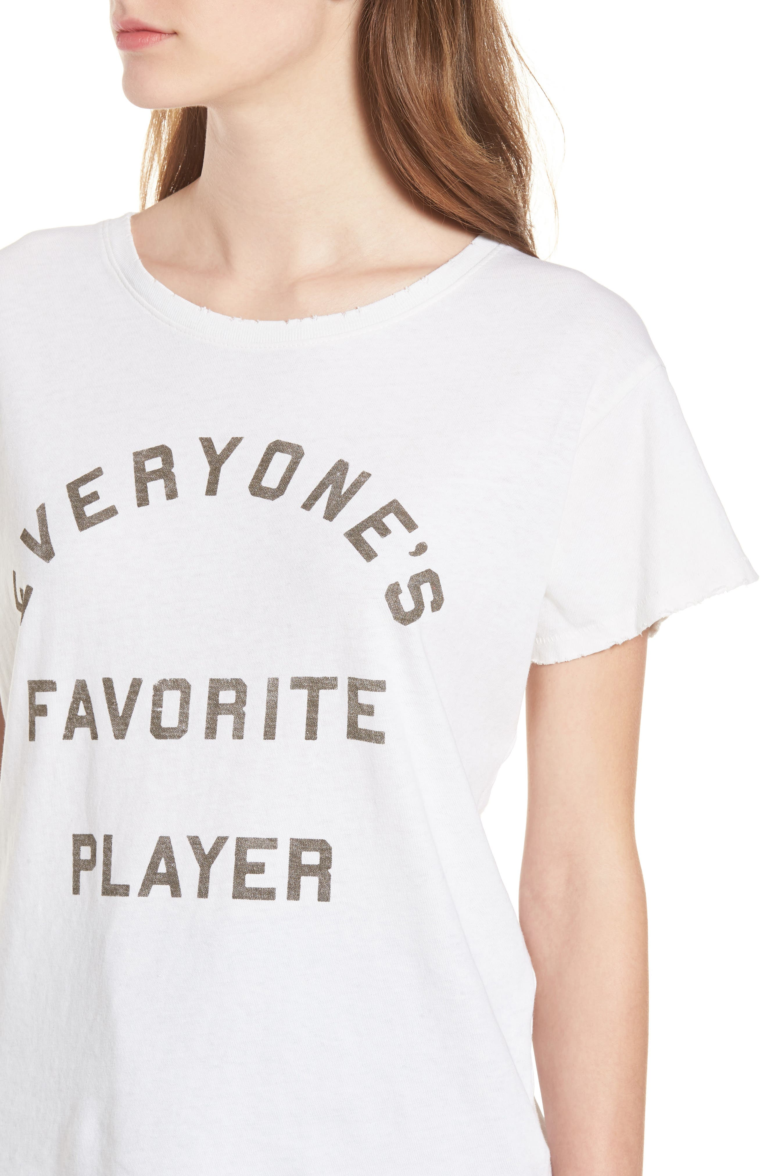 Everyone's Favorite Player Tee,                             Alternate thumbnail 4, color,                             Vintage White