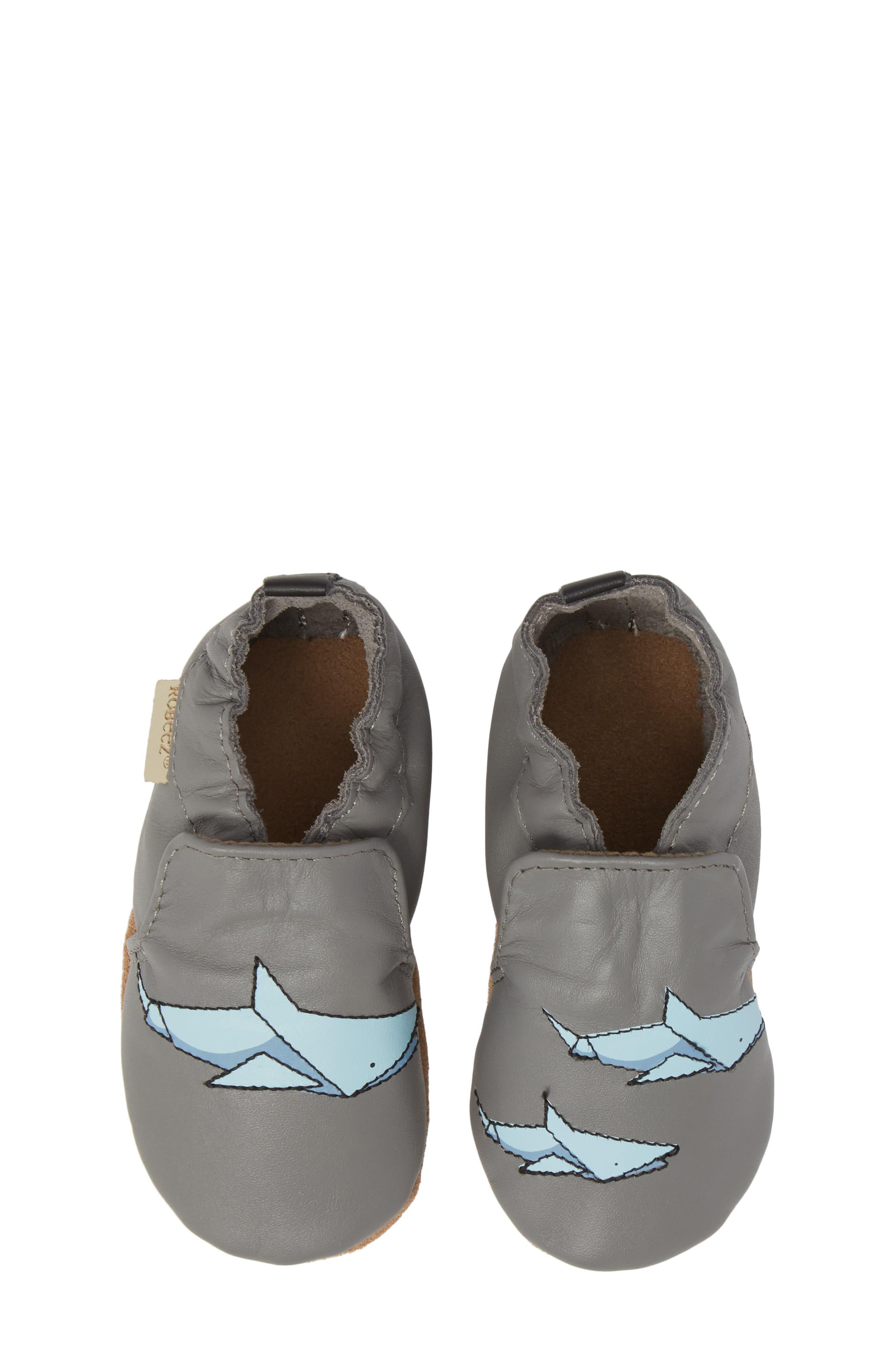 Robeez® Sharktastic Moccasin Crib Shoe (Baby & Walker)