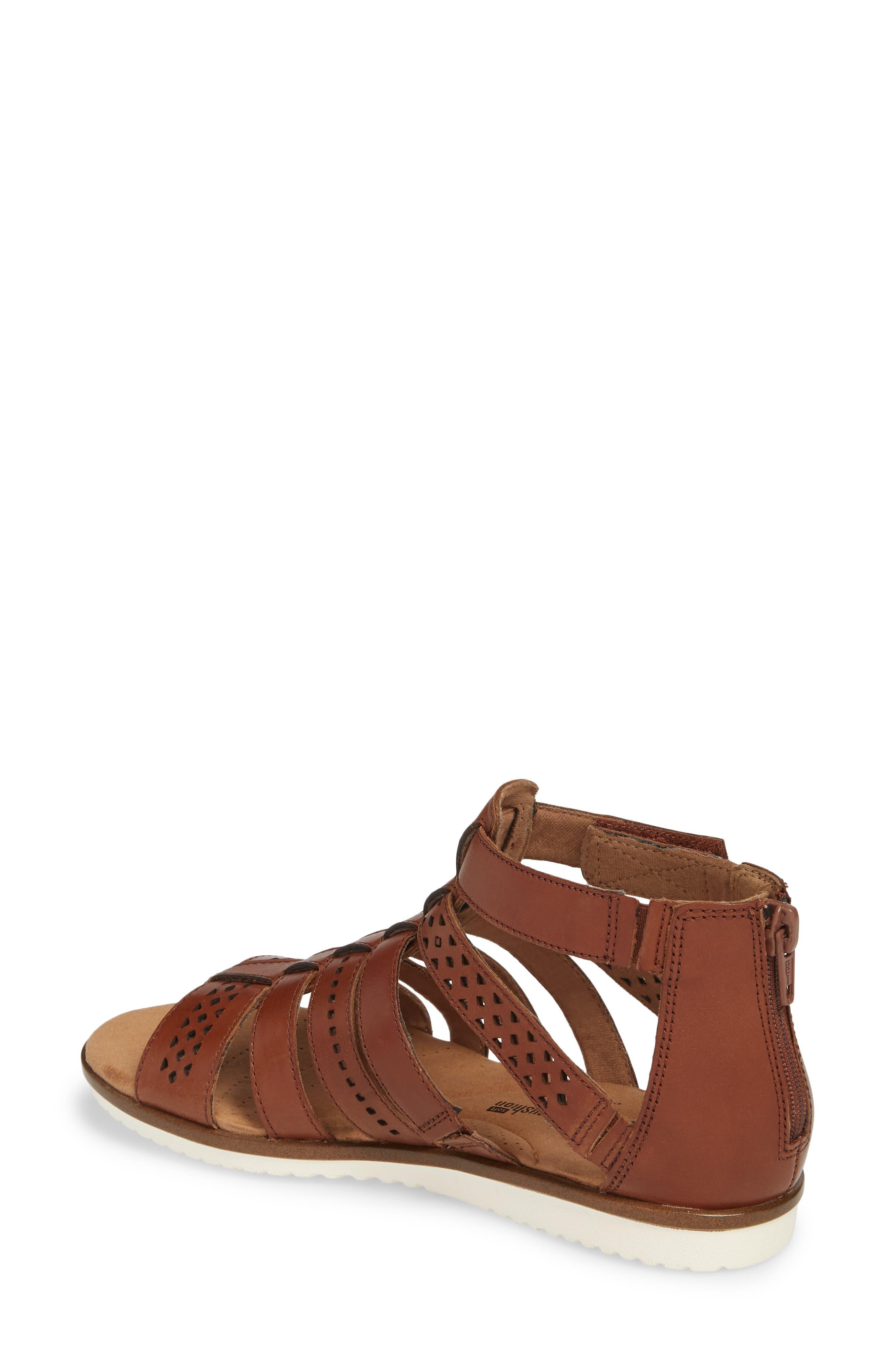 Kele Lotus Sandal,                             Alternate thumbnail 2, color,                             Beige Leather