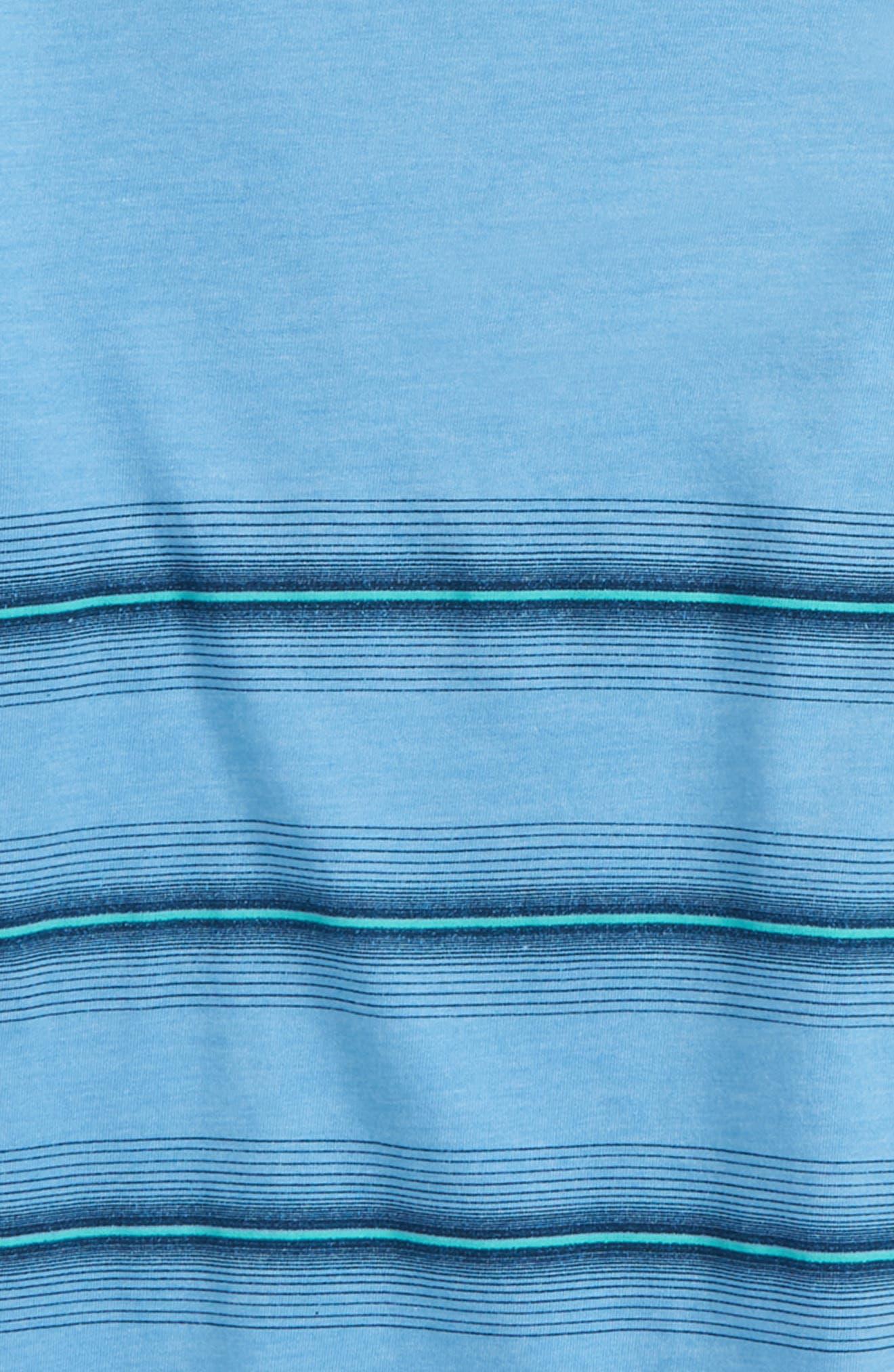 Pho Stripe T-Shirt,                             Alternate thumbnail 2, color,                             Light Blue Heather