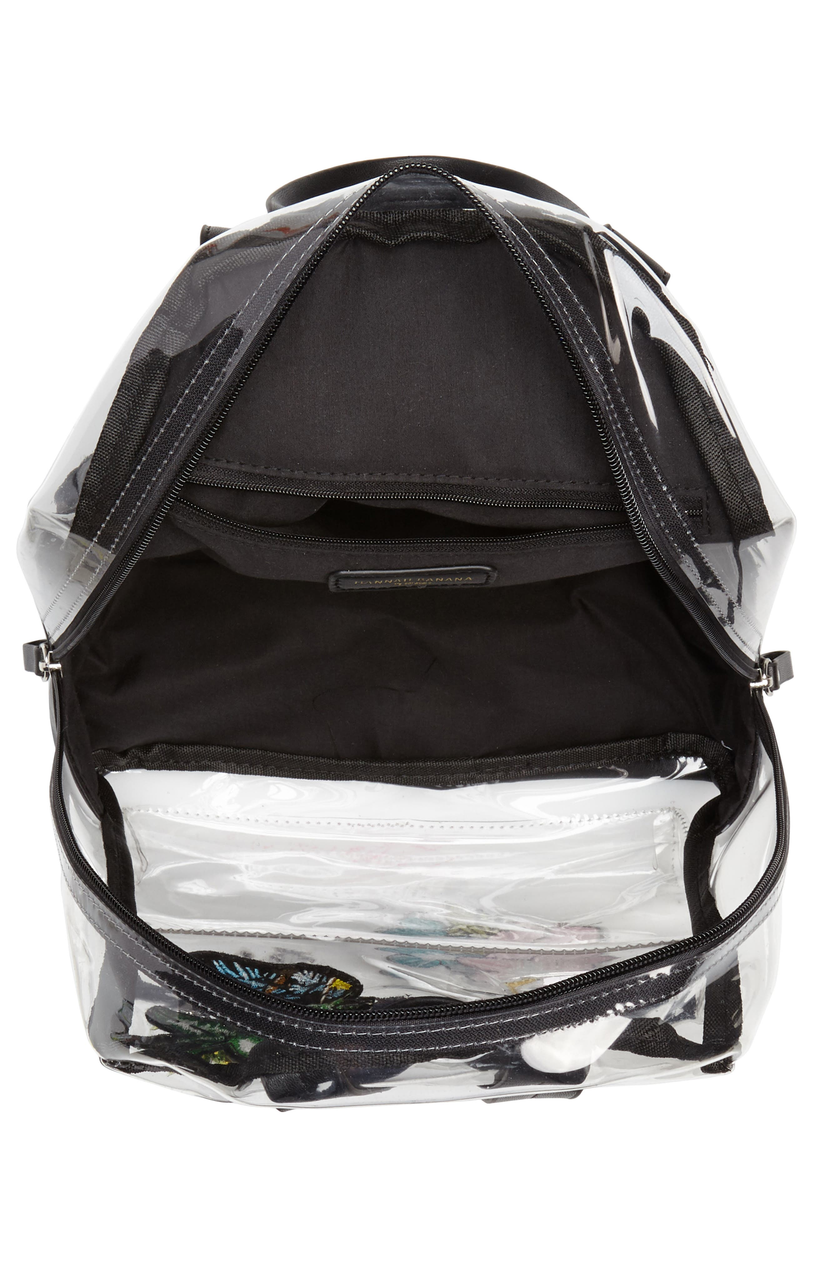 Clear Appliquéd Backpack,                             Alternate thumbnail 4, color,                             Clear