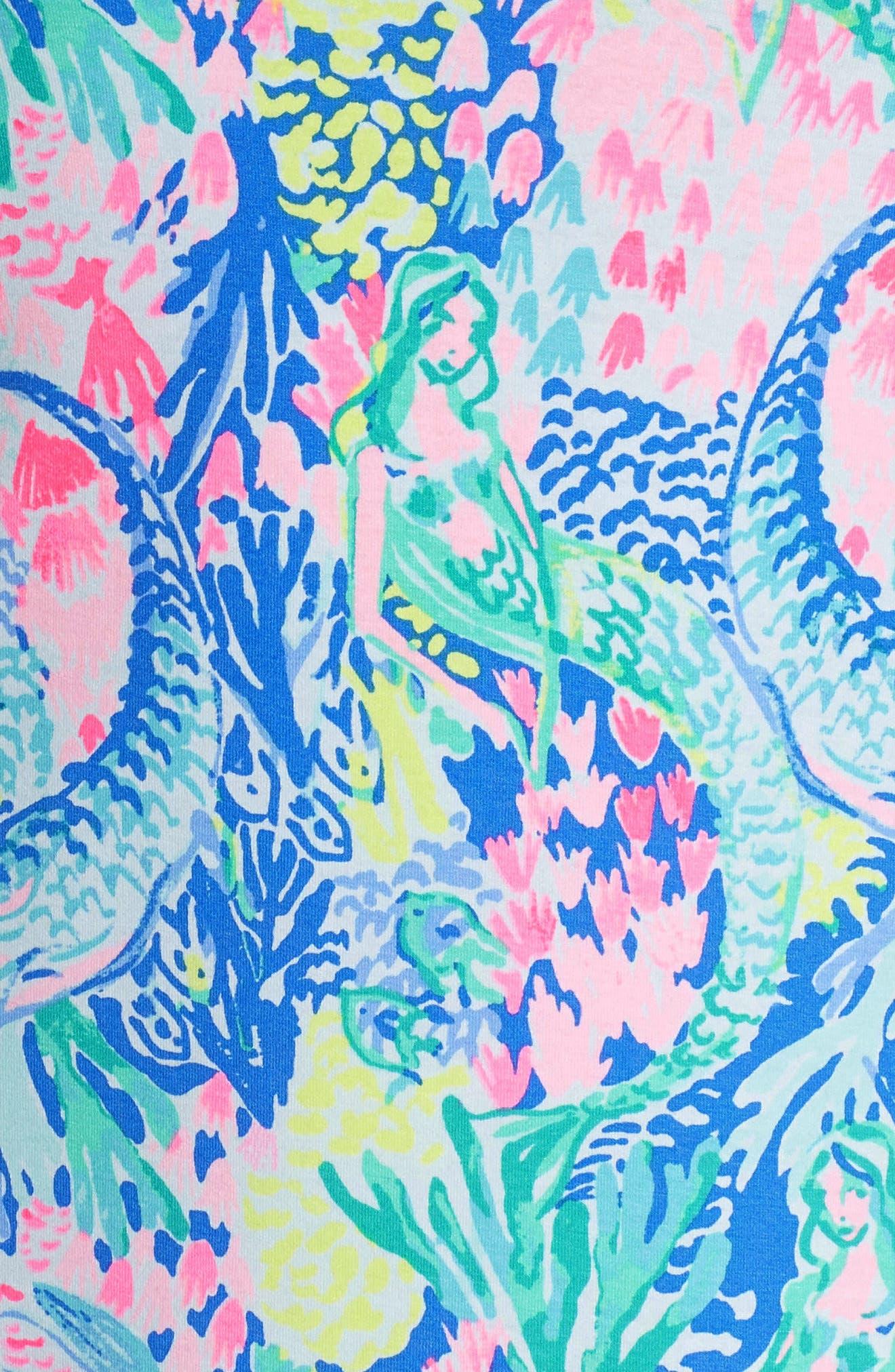 Sophie UPF 50+ Shift Dress,                             Alternate thumbnail 5, color,                             Multi Mermaids Cove