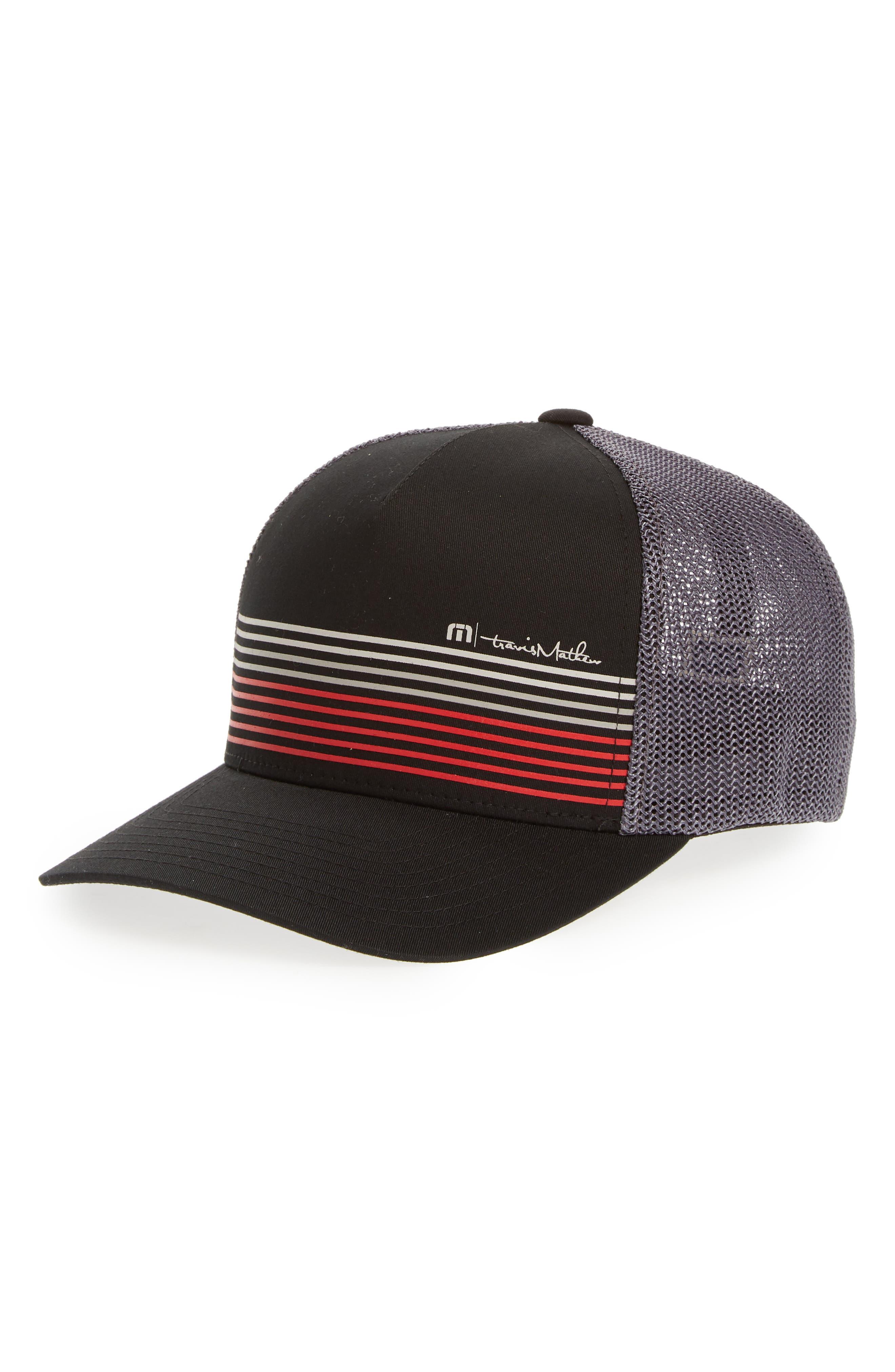 Braids Trucker Hat,                         Main,                         color, Black