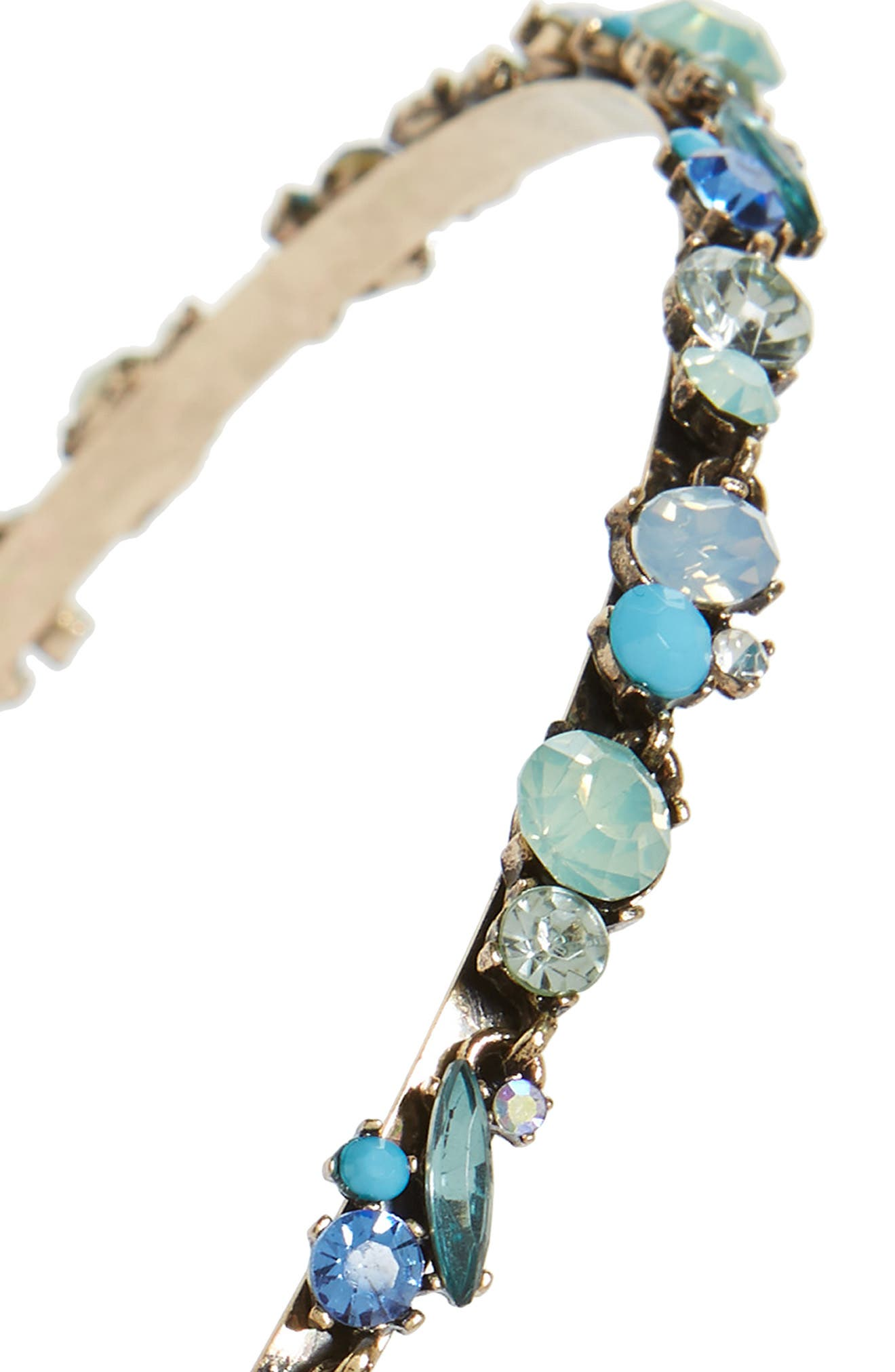 Mixed Cluster Headband,                             Alternate thumbnail 2, color,                             Blue