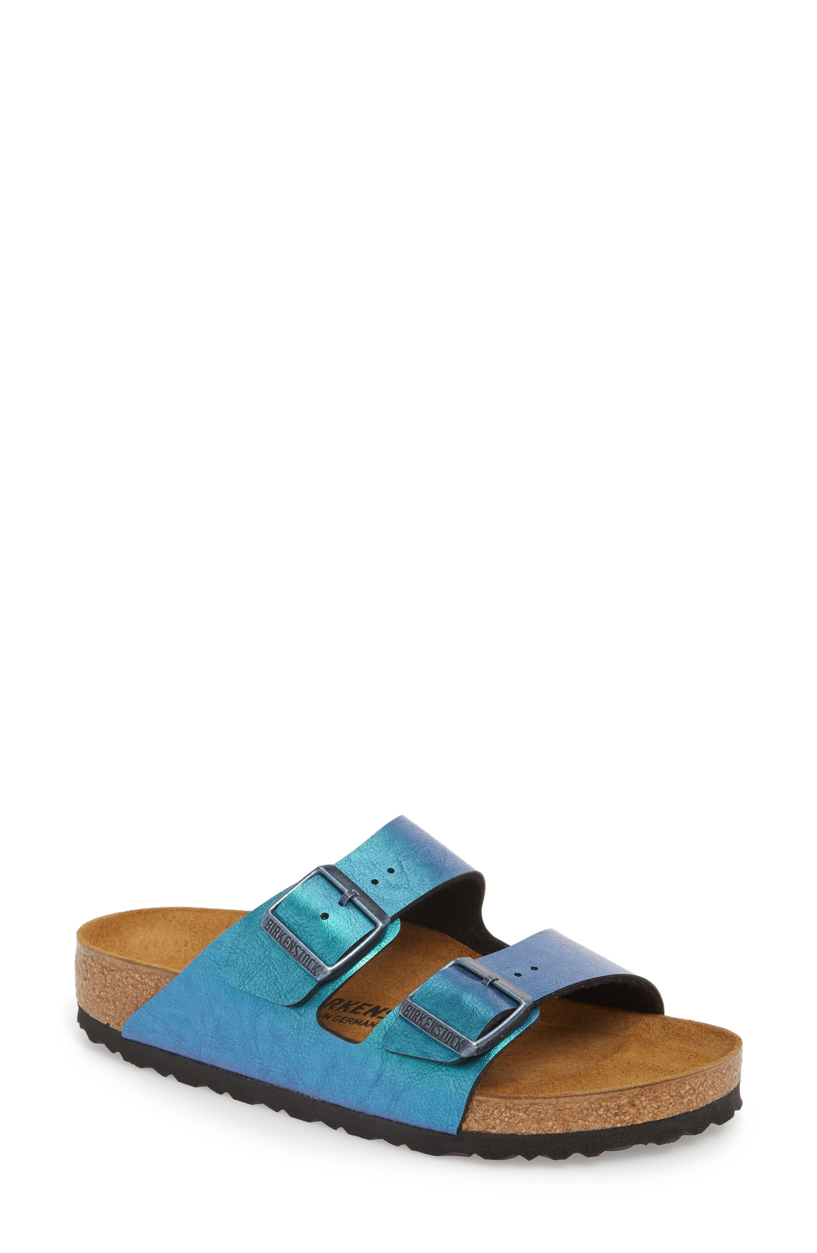 Arizona Graceful Birko-Flor<sup>™</sup> Sandal,                         Main,                         color, Blue