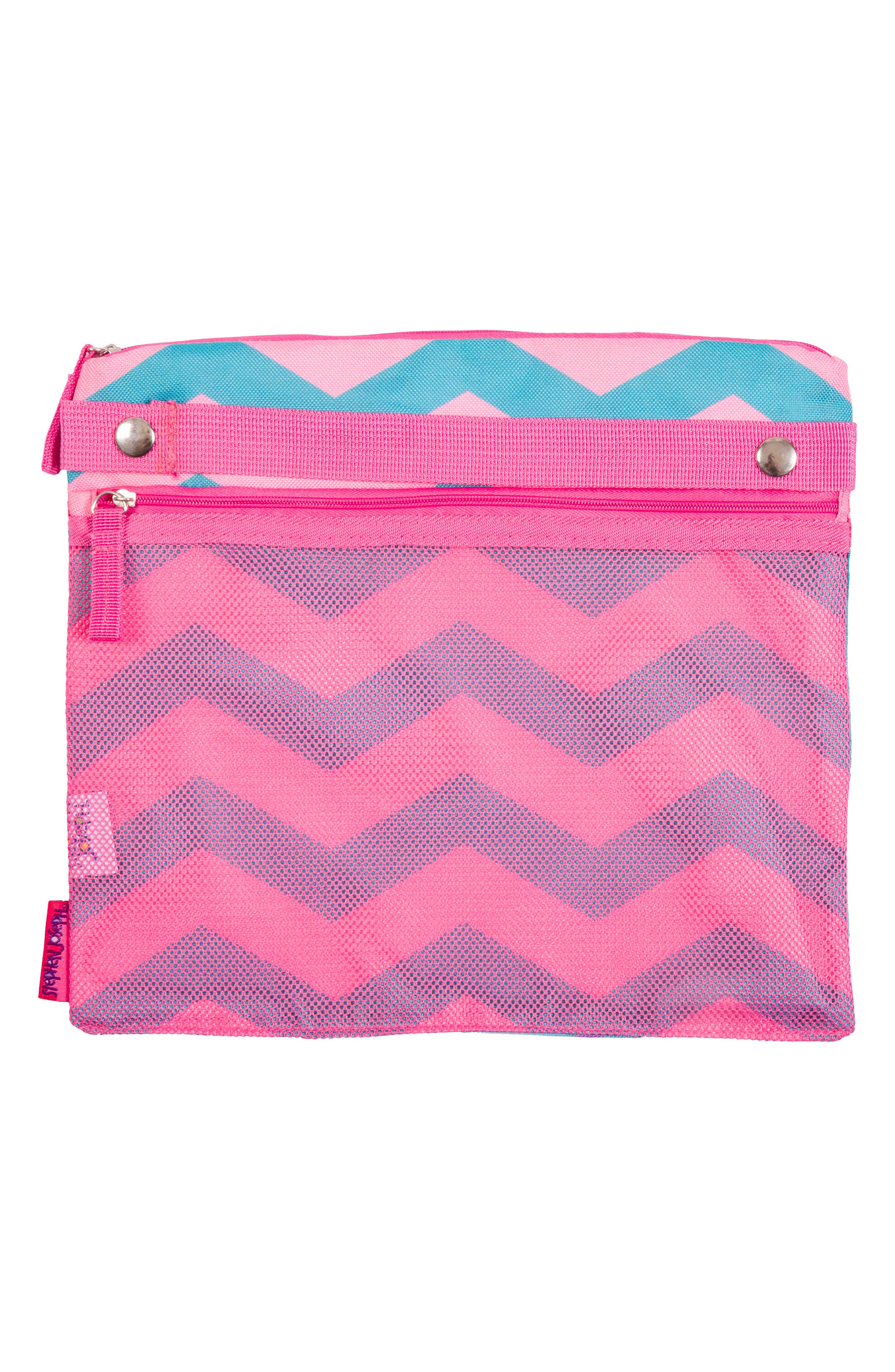 Bag, Hooded Towel & Goggles,                             Alternate thumbnail 2, color,                             Pink Mermaid