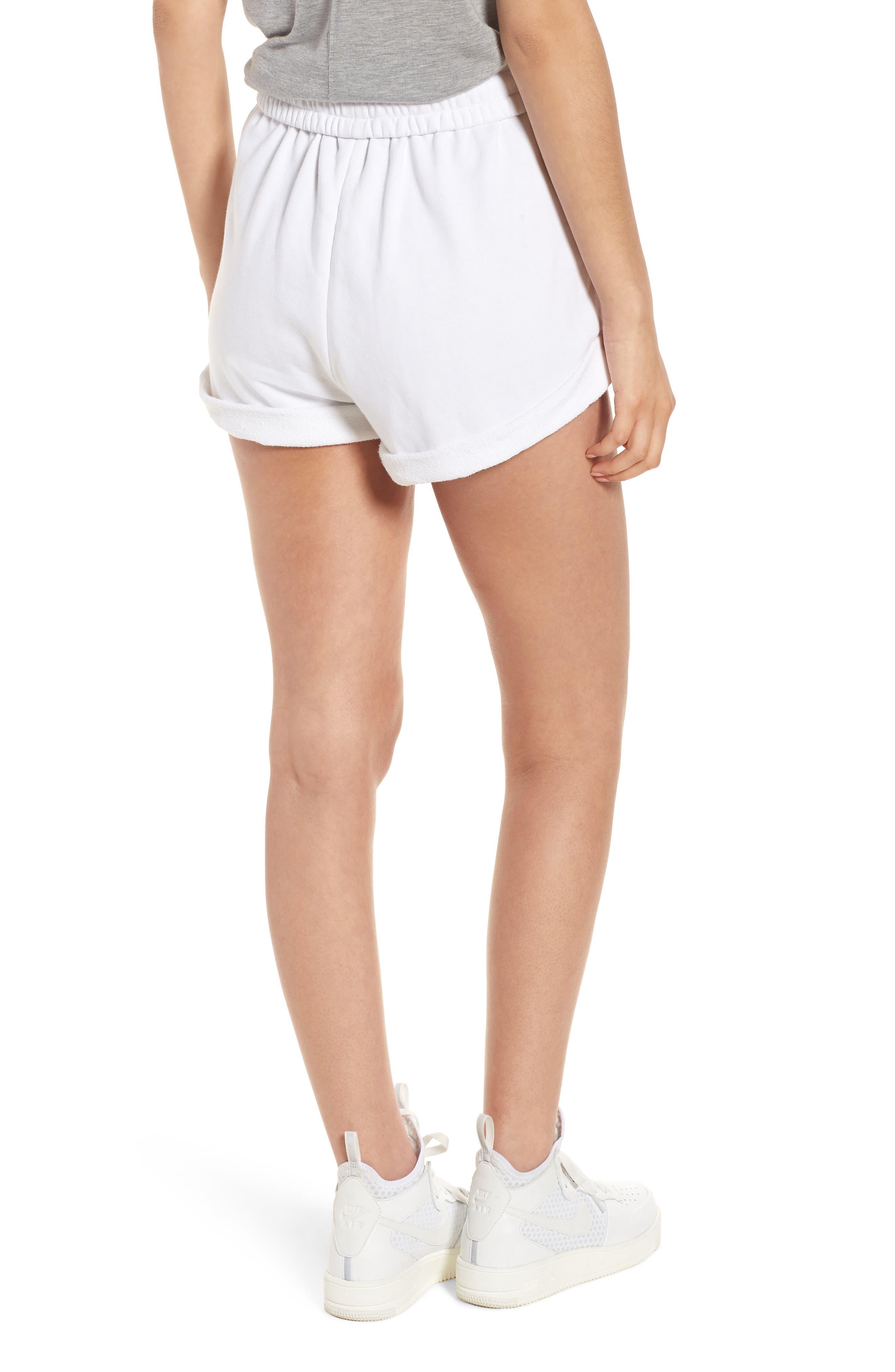 Rolled Drawstring Shorts,                             Alternate thumbnail 2, color,                             Bright White