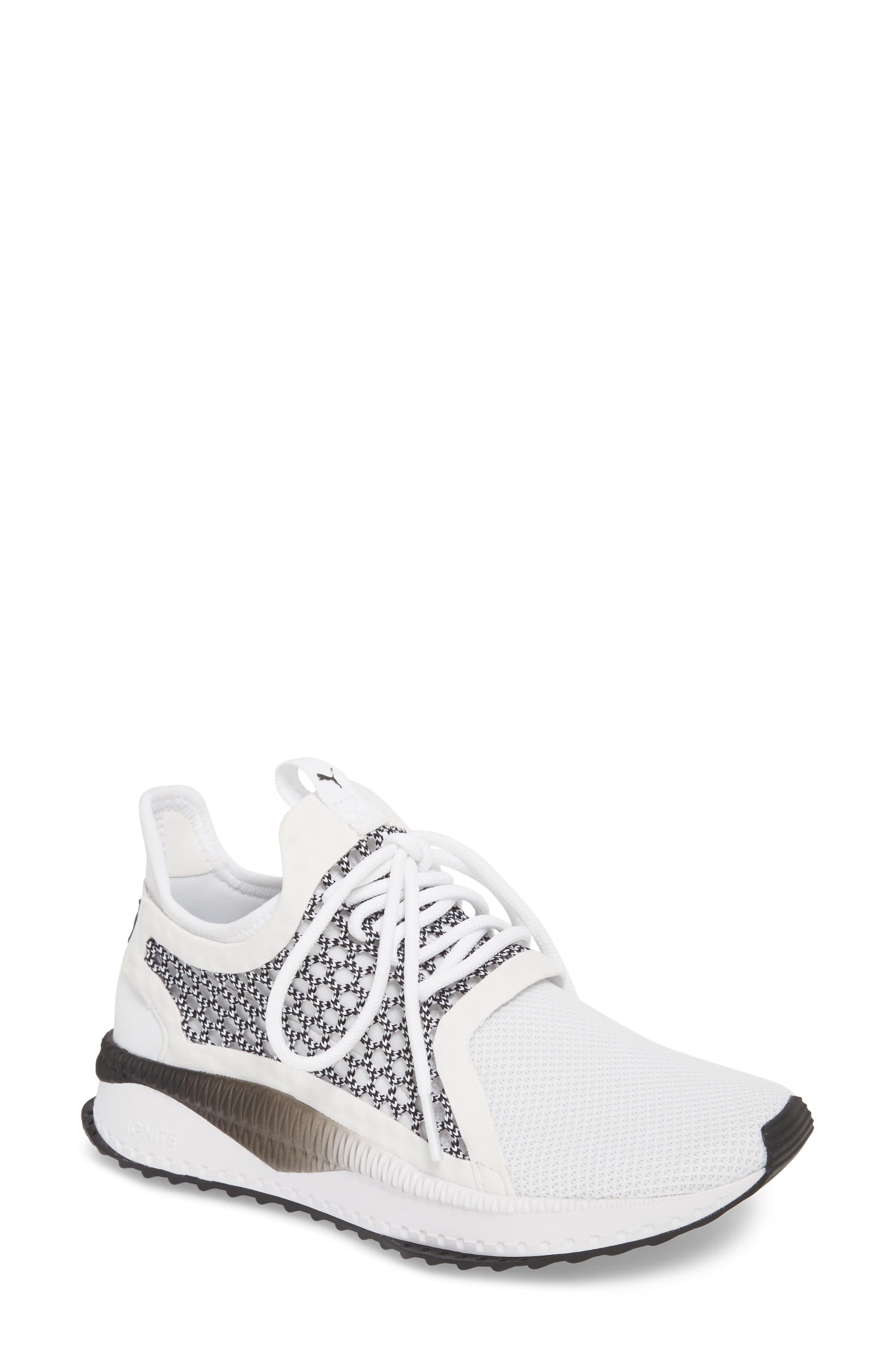 Tsugi Netfit evoKNIT Training Shoe,                             Main thumbnail 1, color,                             White/ Black