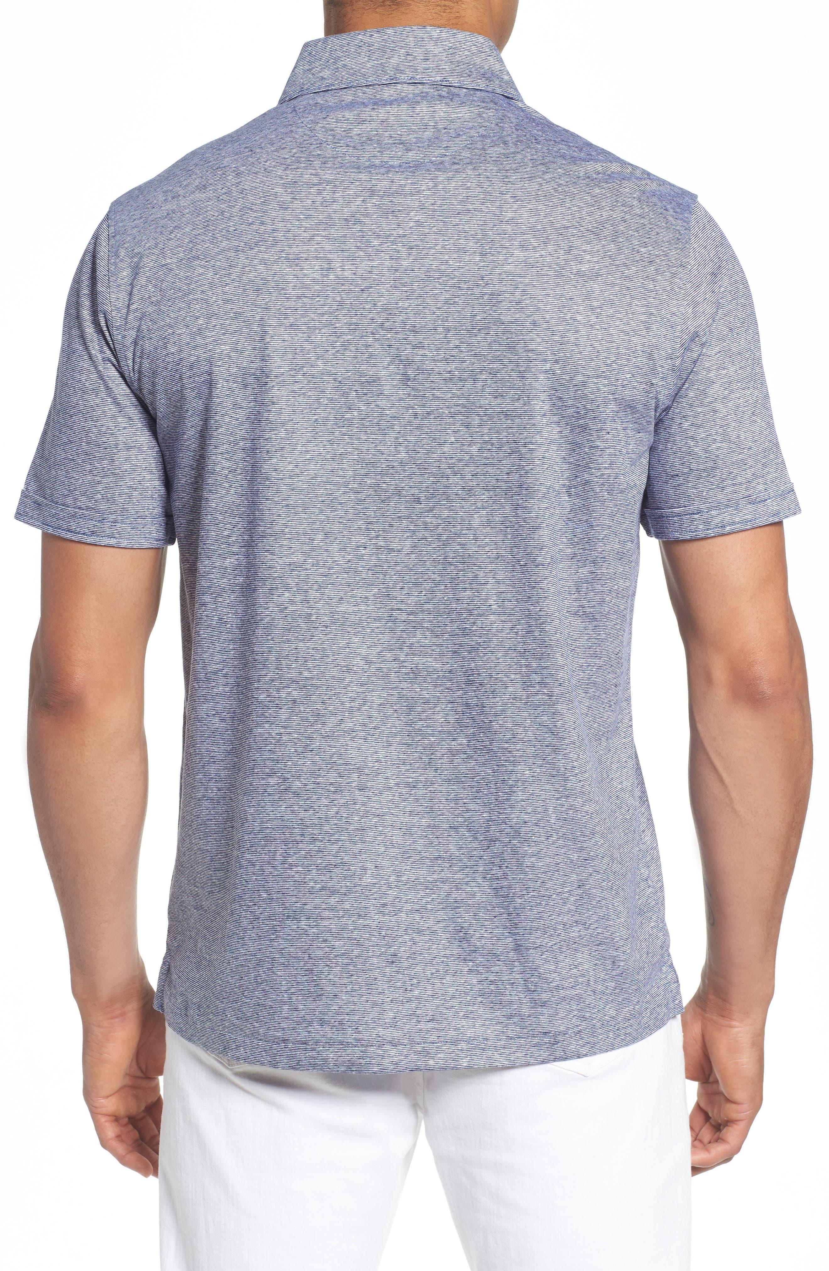 Knit Sport Shirt,                             Alternate thumbnail 3, color,                             Navy