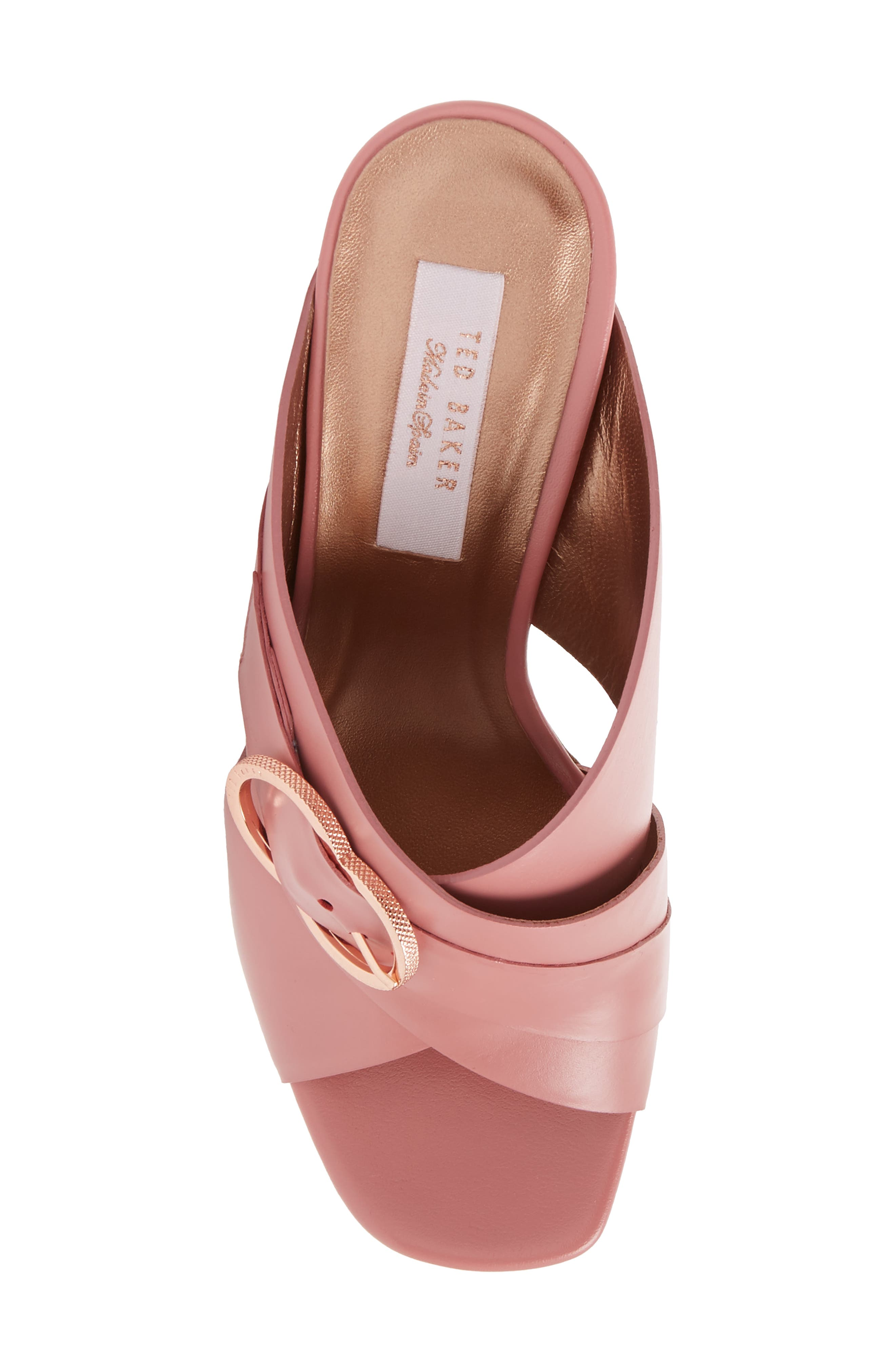 Malada Slide Sandal,                             Alternate thumbnail 5, color,                             Pink Leather