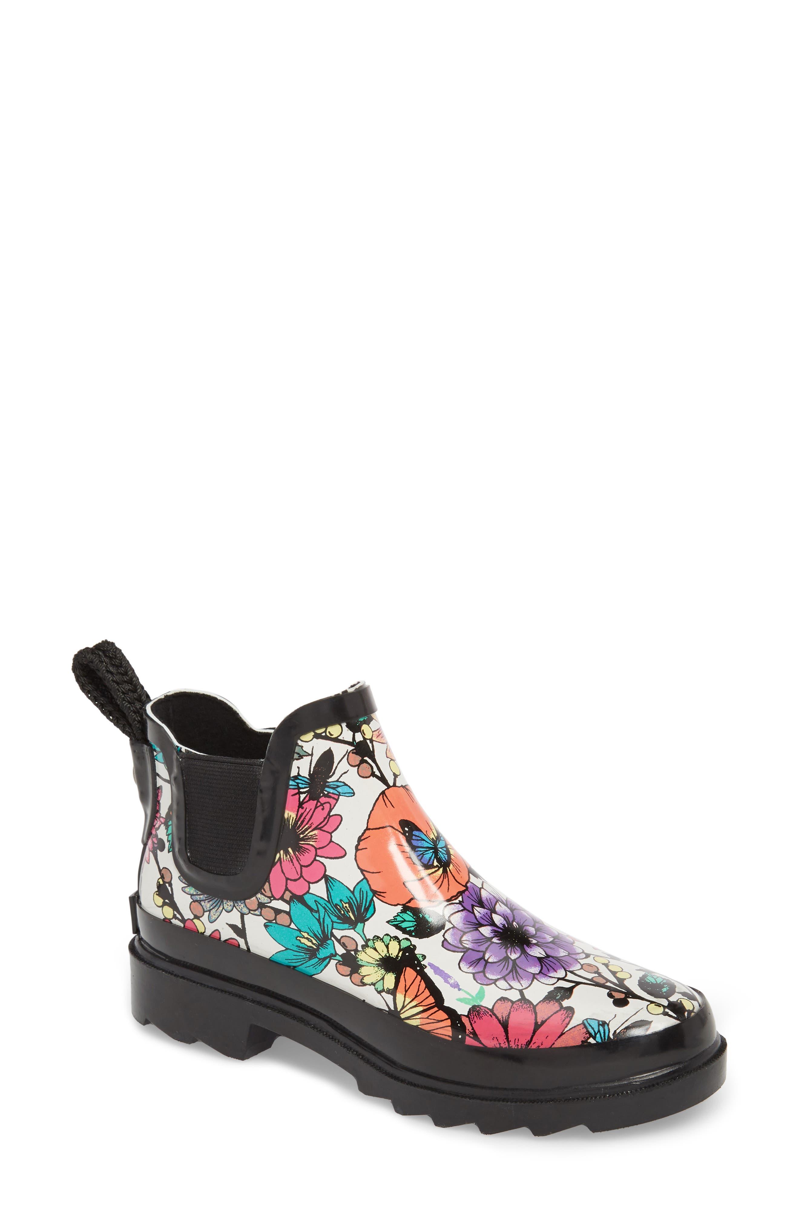 'Rhyme' Waterproof Rain Boot,                             Main thumbnail 1, color,                             Optic In Bloom