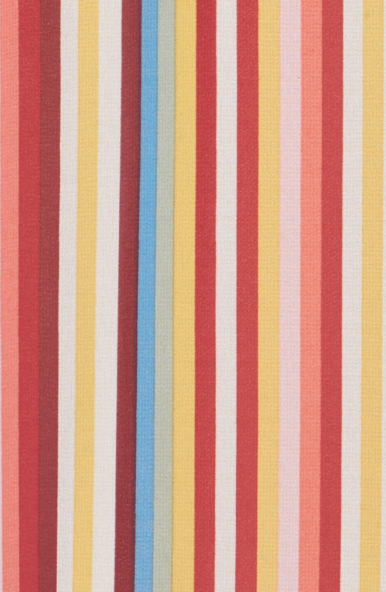 Bobby Wrap Maxi Dress,                             Alternate thumbnail 6, color,                             Red Multi Stripe