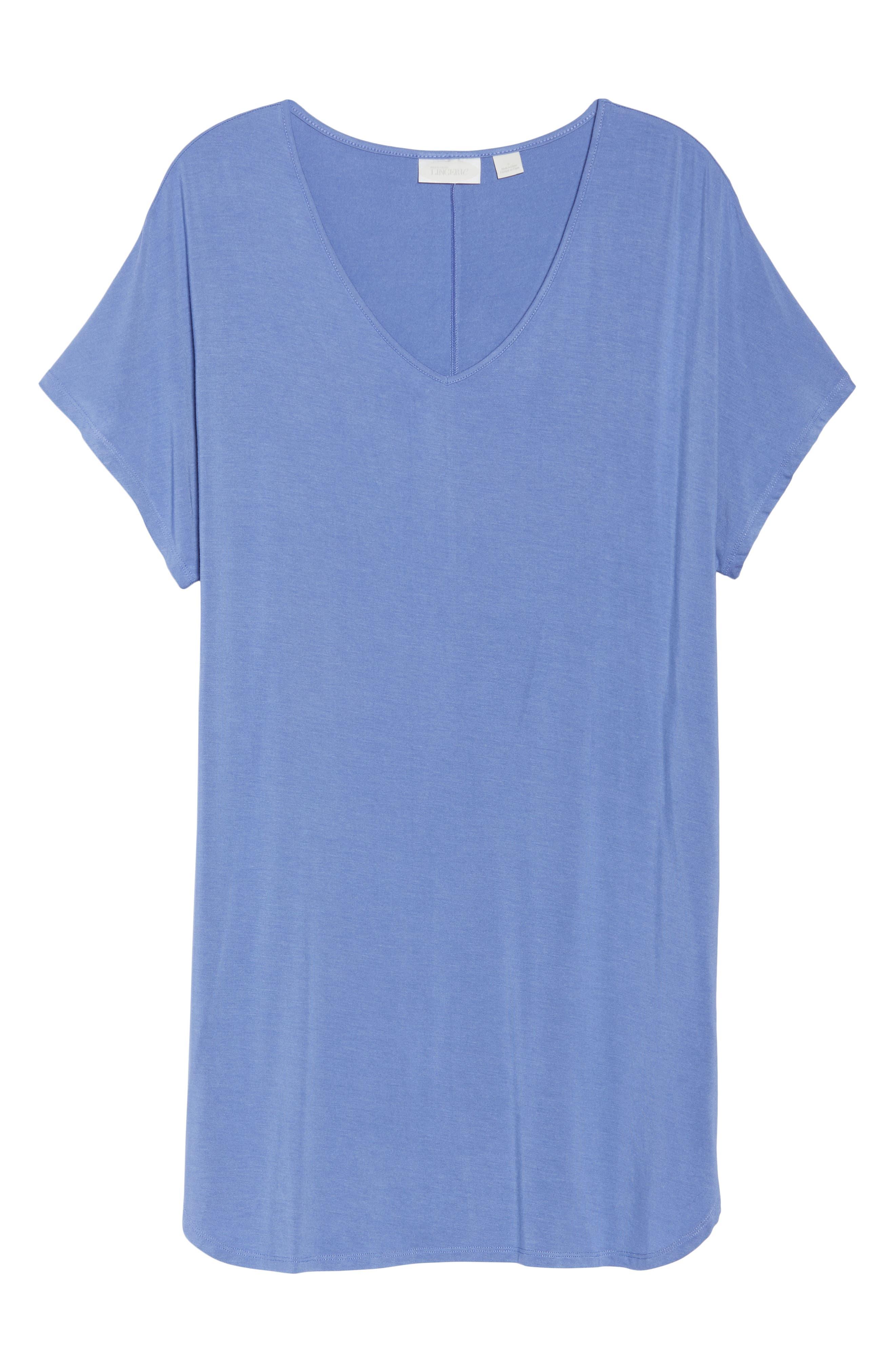 Dolman Sleeve Nightshirt,                             Alternate thumbnail 6, color,                             Blue Denim