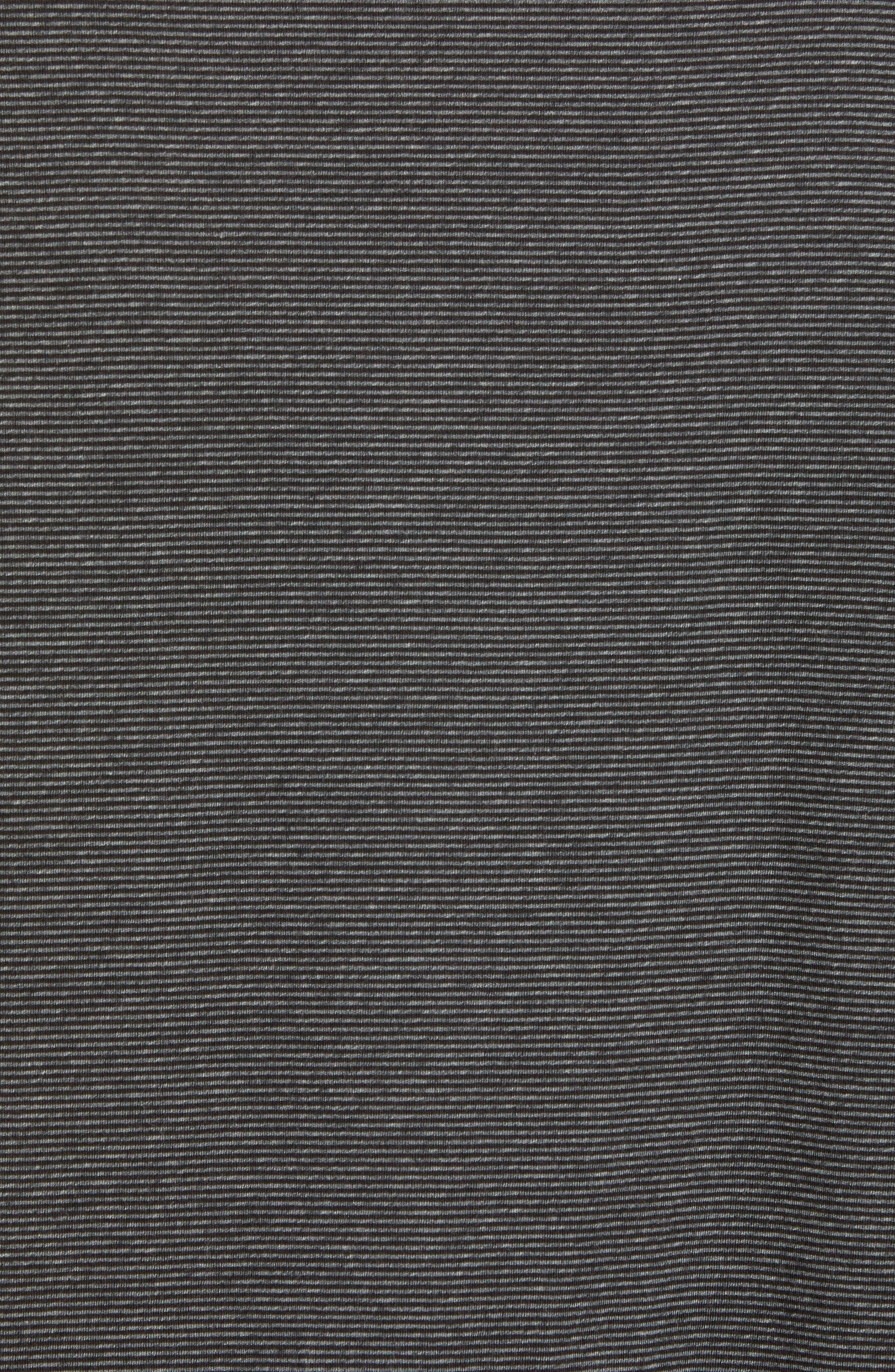 Stripe Cotton Polo Shirt,                             Alternate thumbnail 5, color,                             Charcoal/ Black